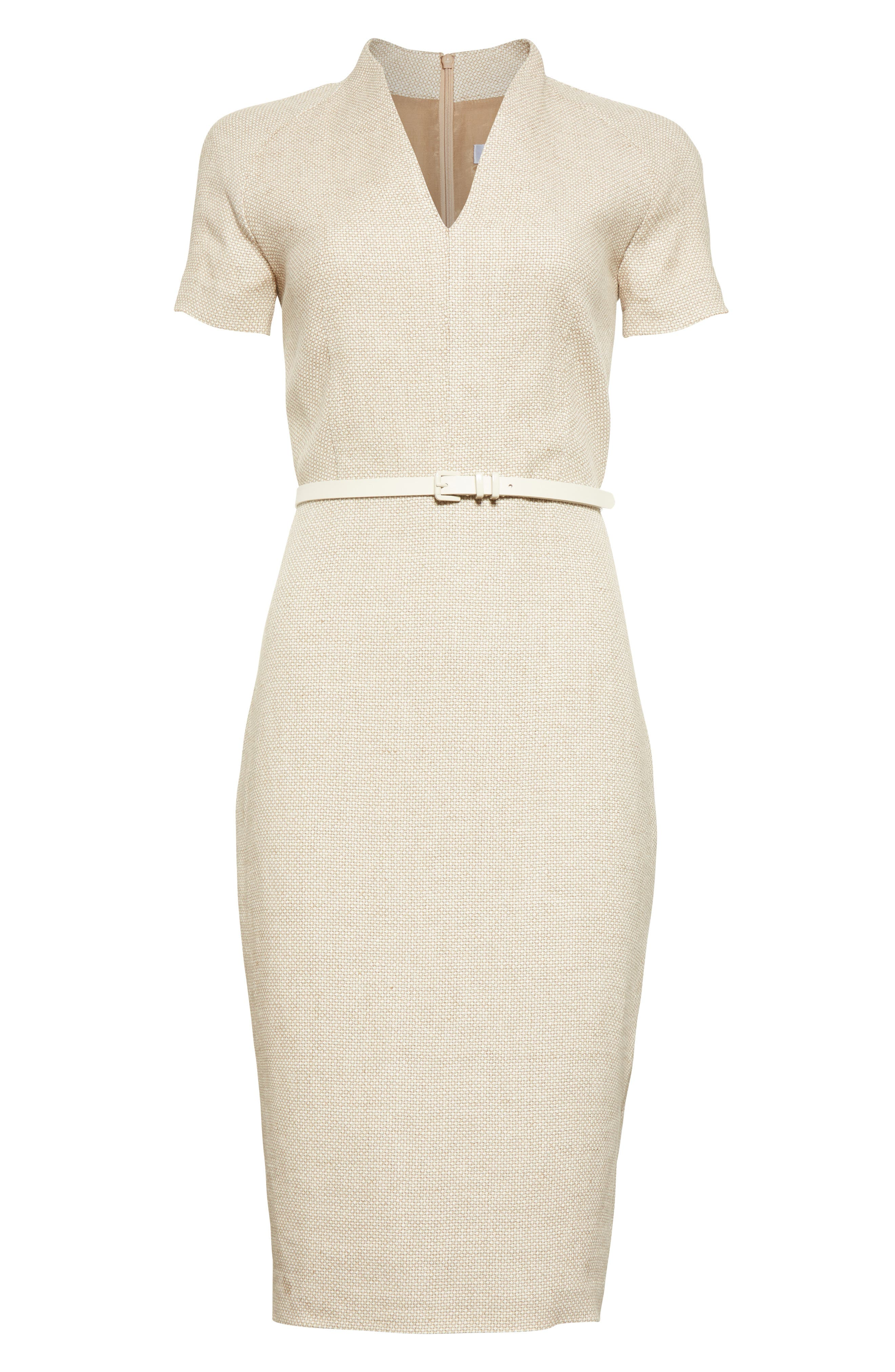 Alternate Image 4  - Max Mara Azeglio Belted Linen Sheath Dress