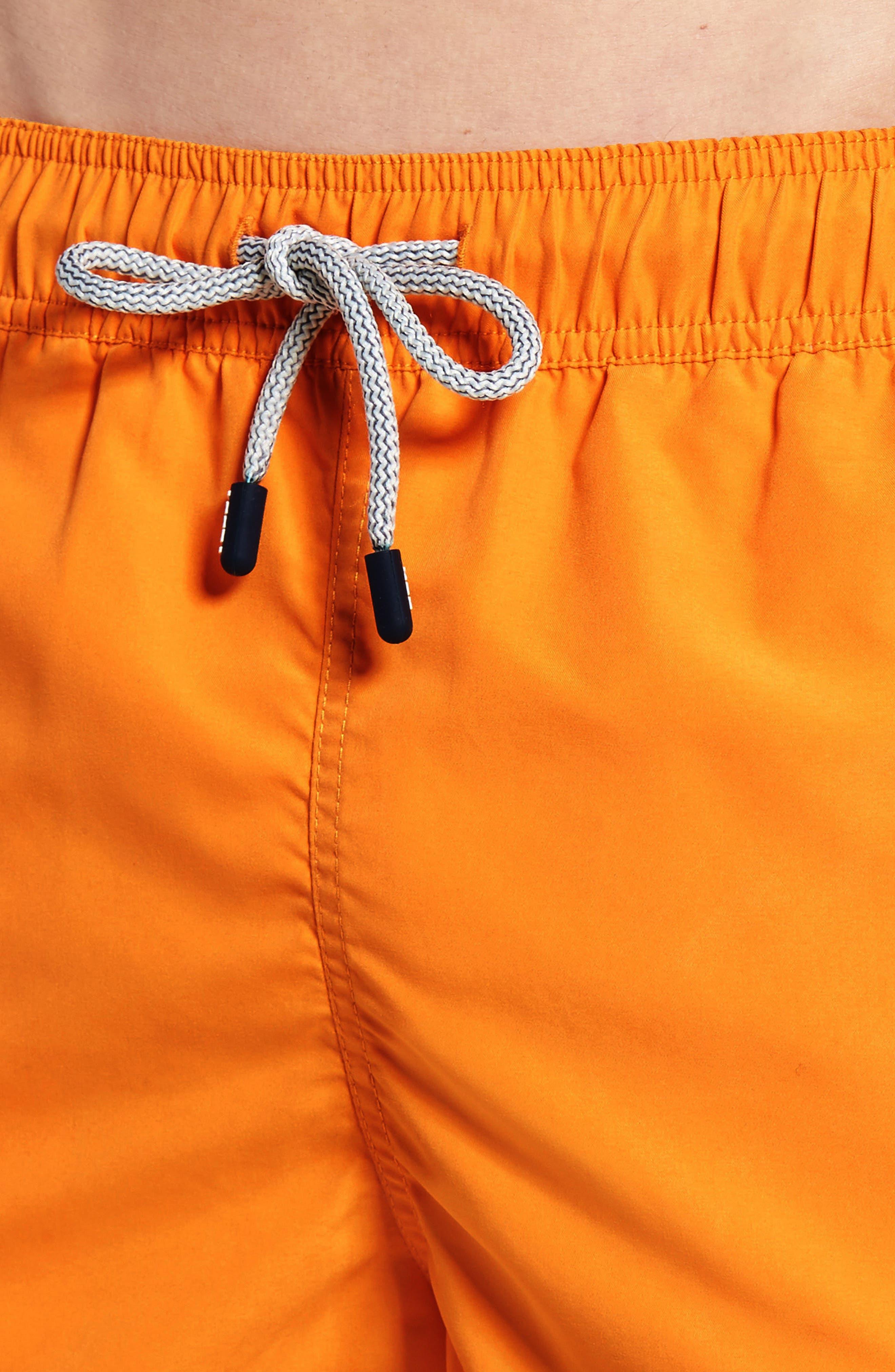 Swim Trunks,                             Alternate thumbnail 4, color,                             Baked Orange