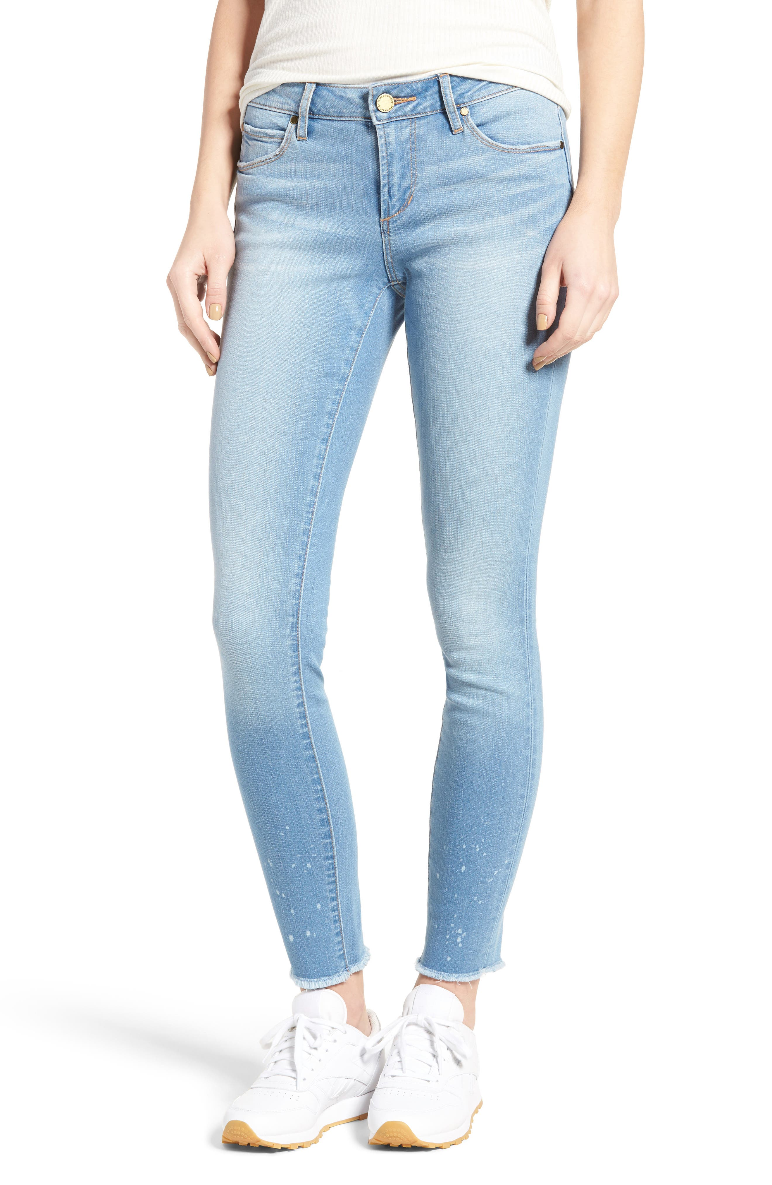Main Image - Articles of Society Sarah Skinny Jeans (Bay)