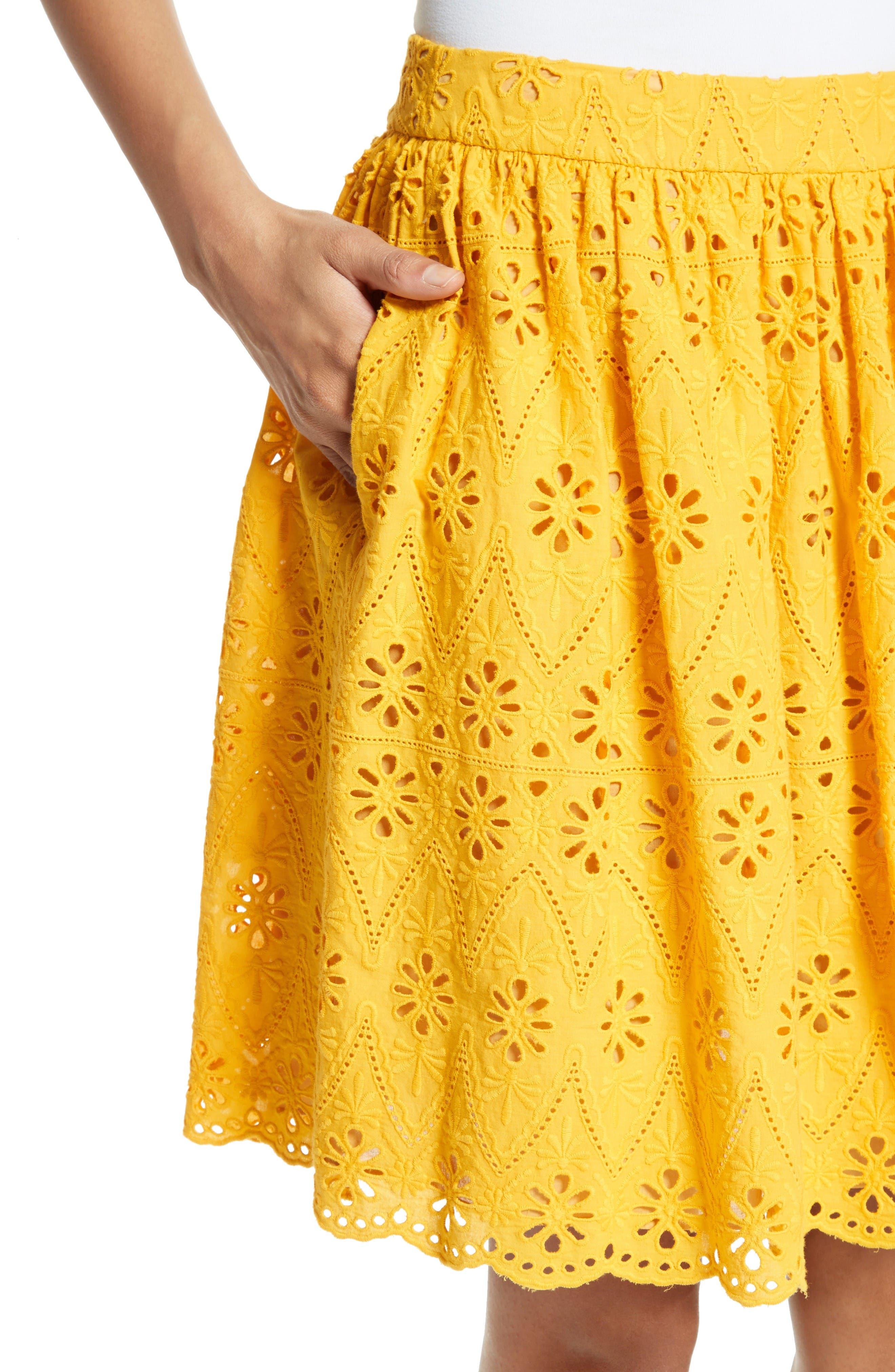 Alternate Image 4  - kate spade new york eyelet embroidered skirt