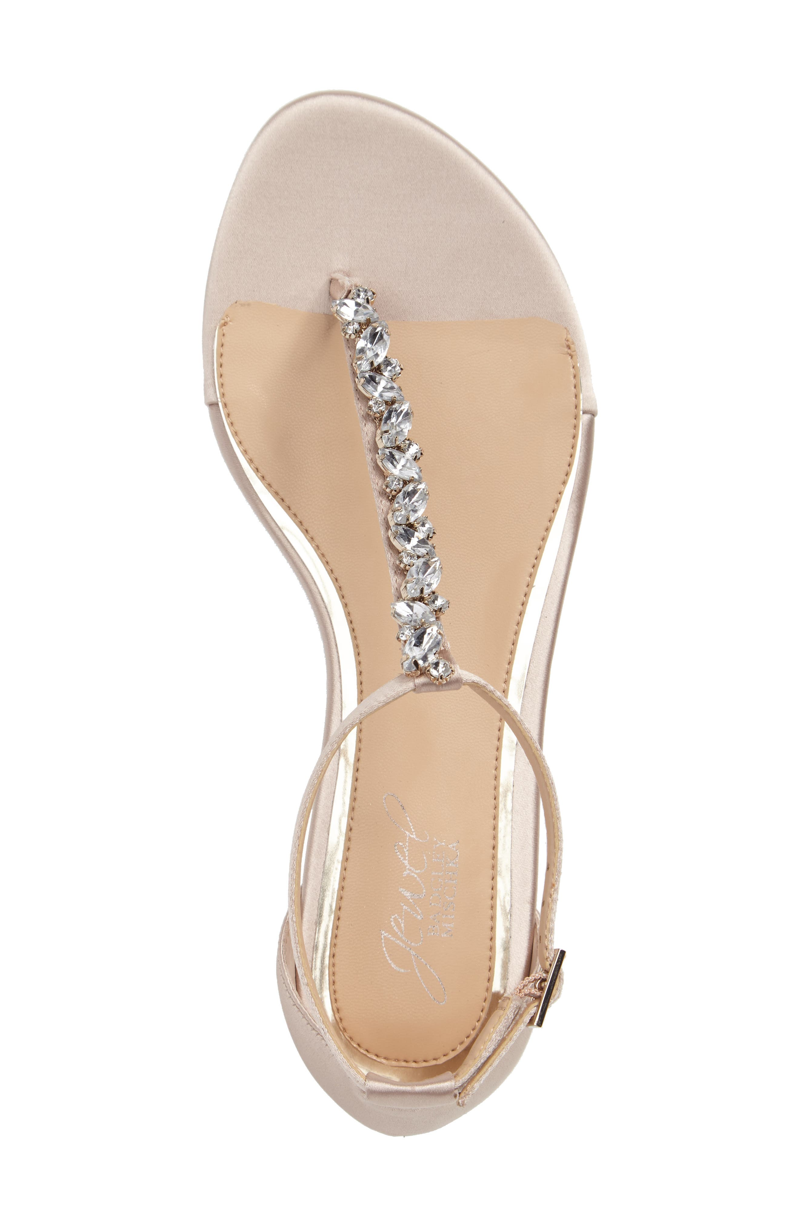 Alternate Image 3  - Jewel Badgley Mischka Carrol Embellished T-Strap Sandal (Women)