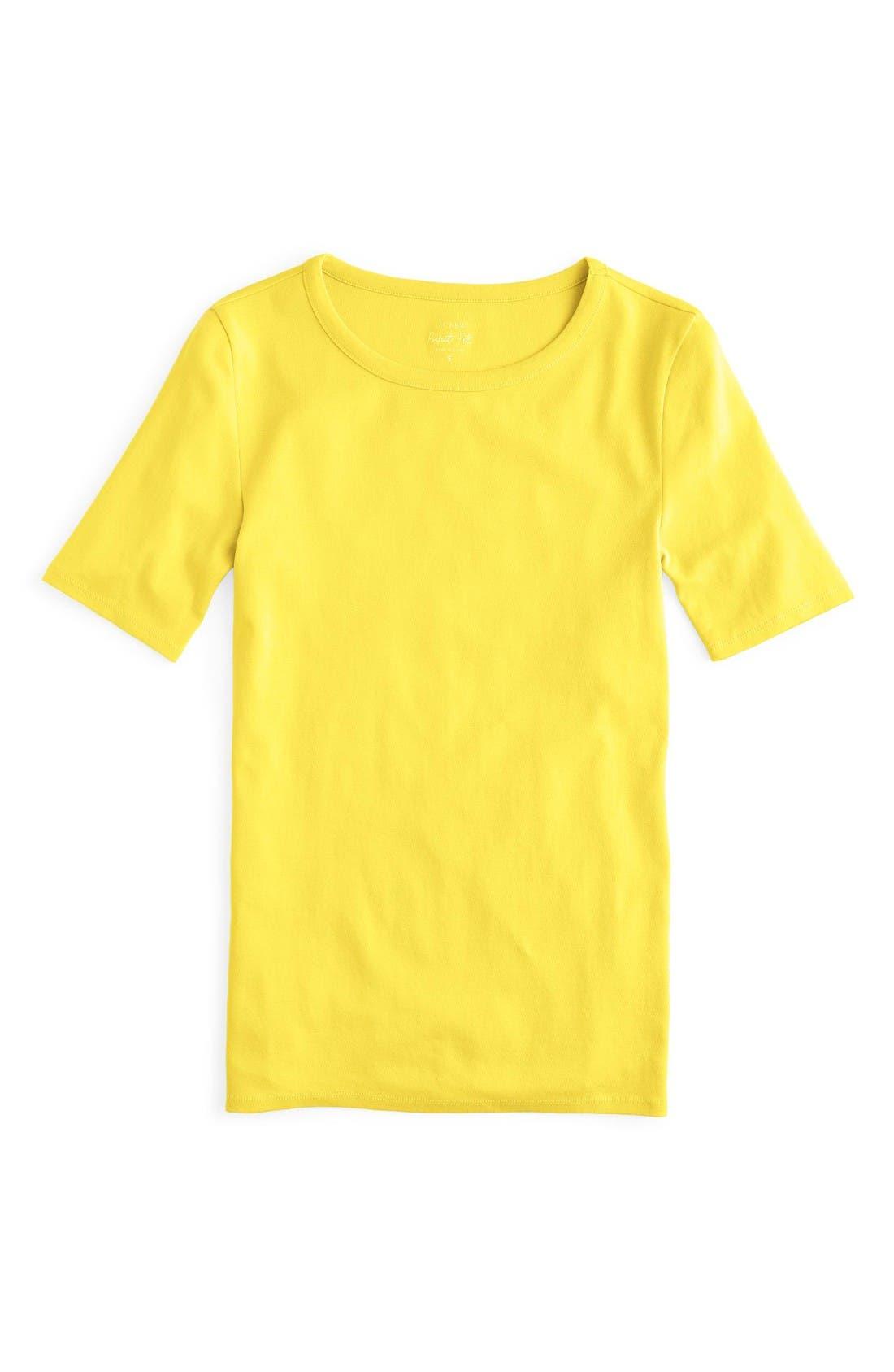 J.Crew New Perfect Fit T-Shirt,                             Main thumbnail 1, color,                             Bright Citrus