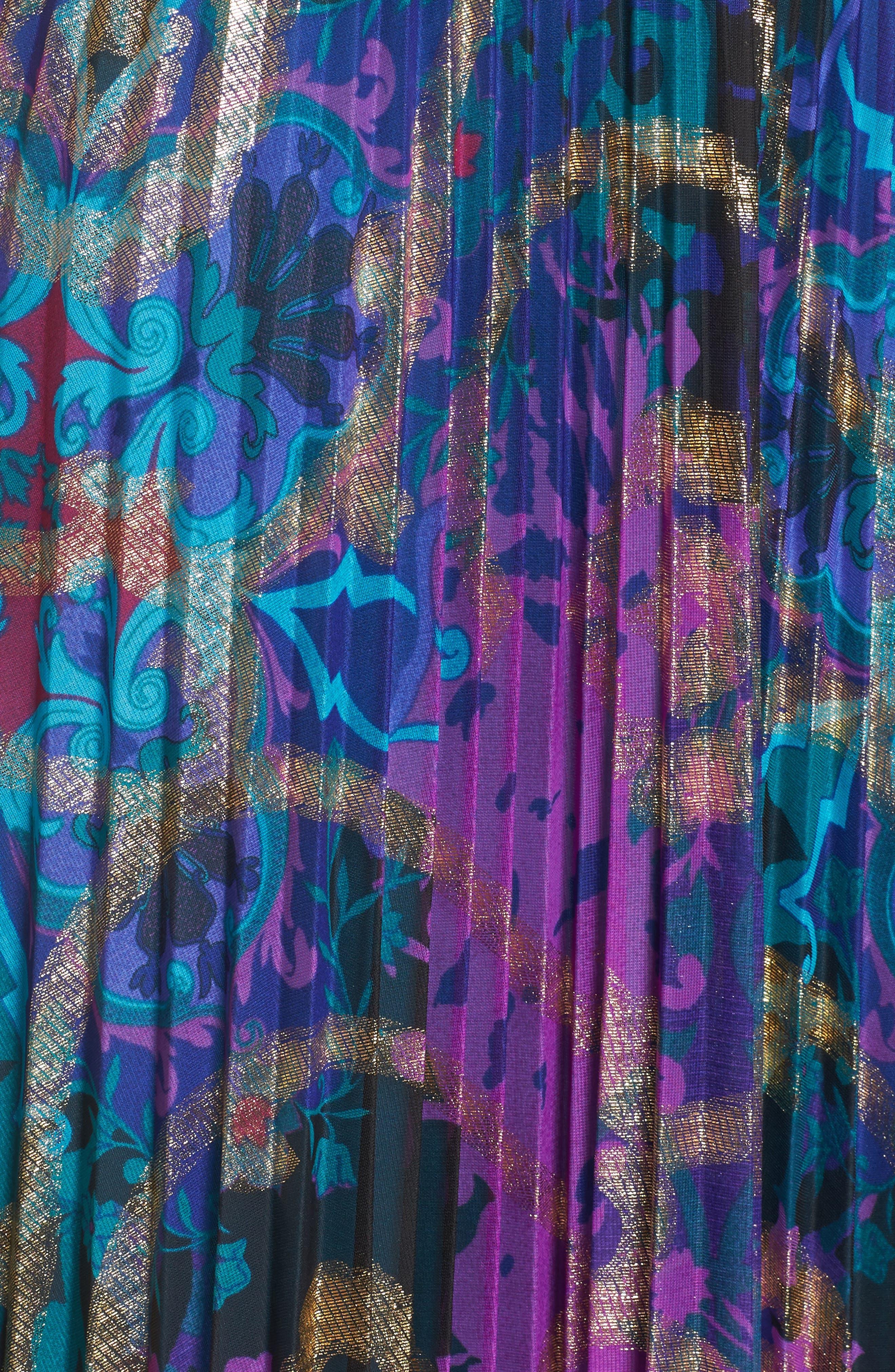 Alternate Image 5  - Xscape Pleated Blouson Gown