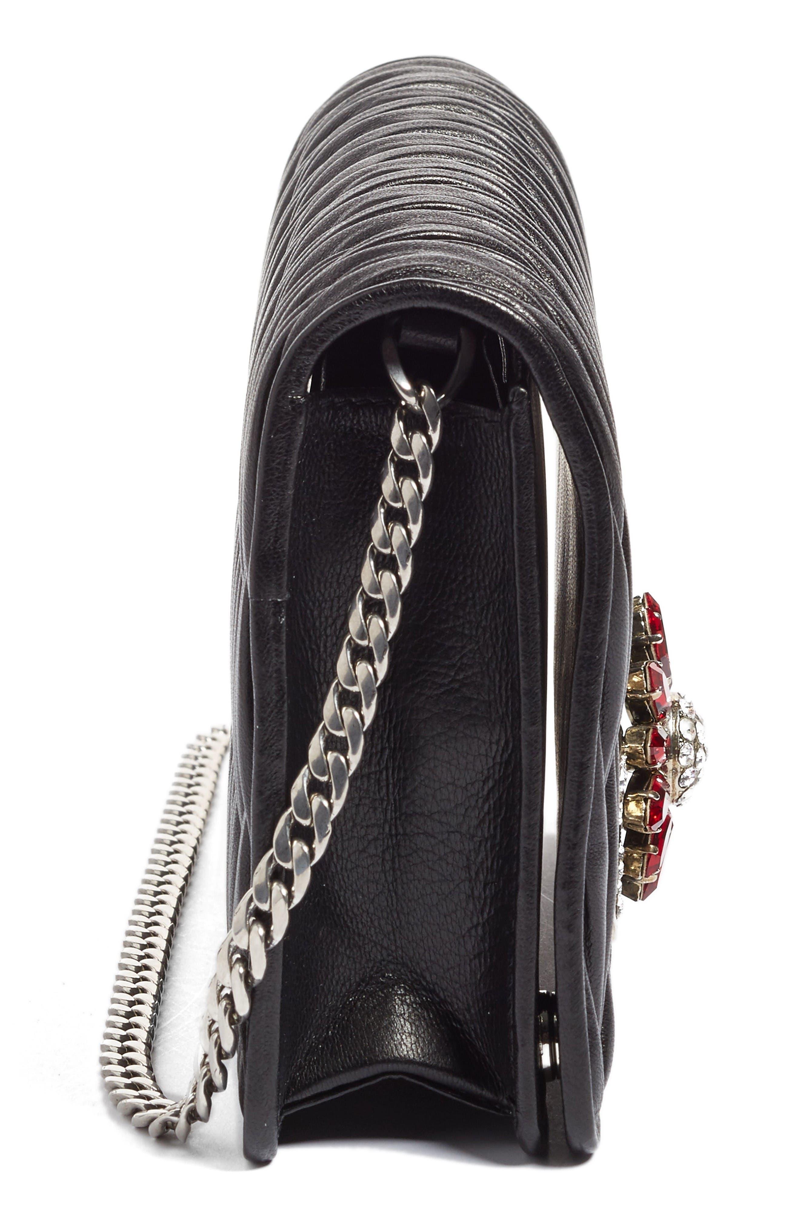 Alternate Image 6  - Miu Miu Delice Matelassé Leather Wallet on a Chain