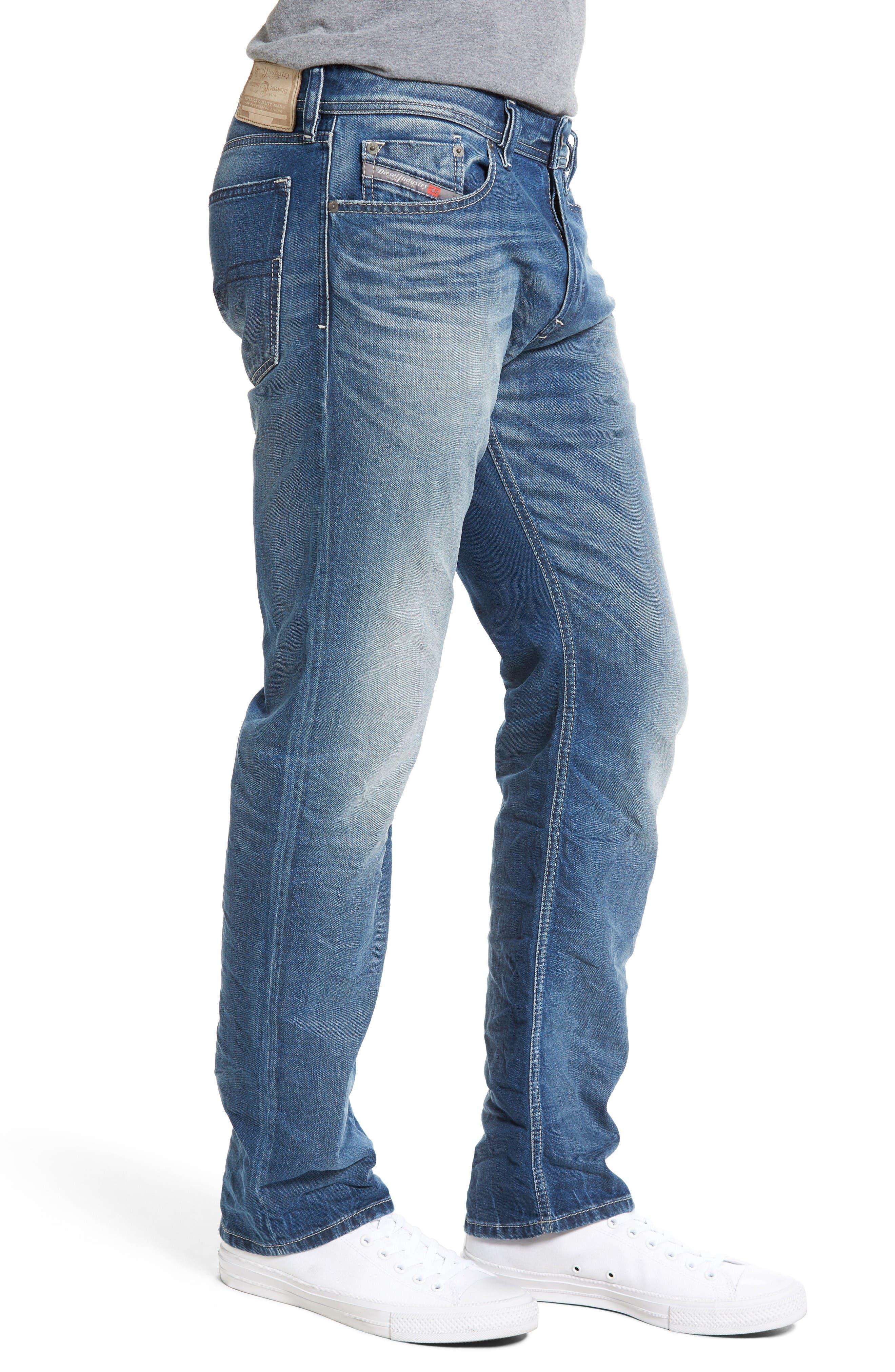 Alternate Image 3  - DIESEL® Waykee Straight Leg Jeans (084DF)
