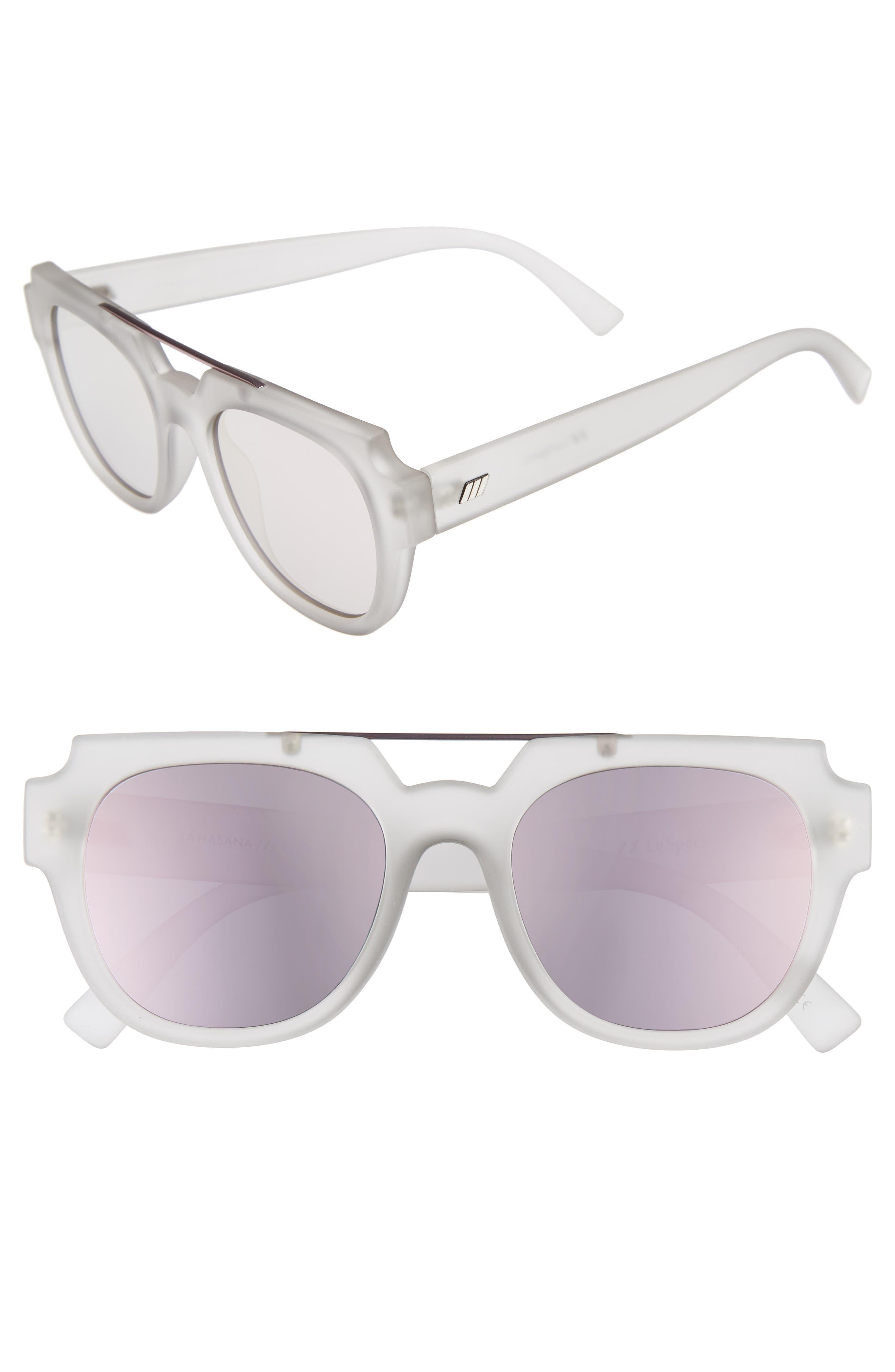 La Habana 52mm Retro Sunglasses,                             Main thumbnail 1, color,                             Matte Mist