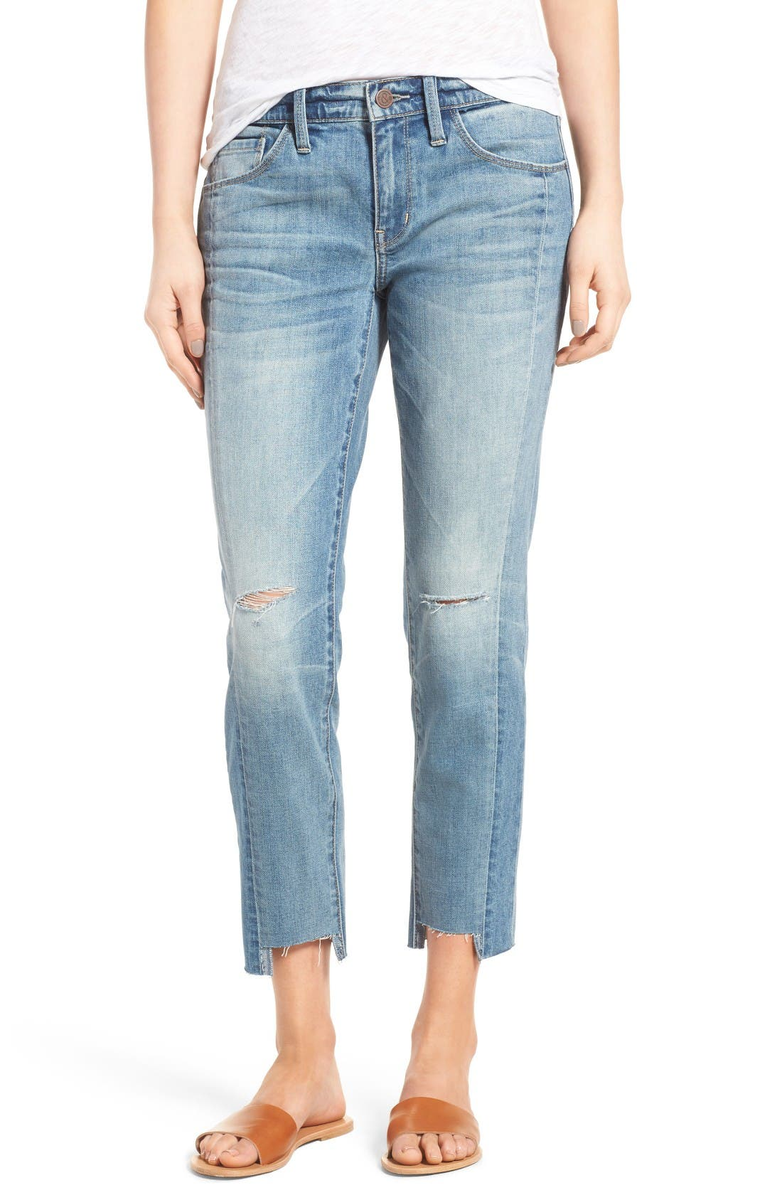 Alternate Image 1 Selected - Treasure & Bond Skinny Boyfriend Jeans (Gravel Medium Remade)