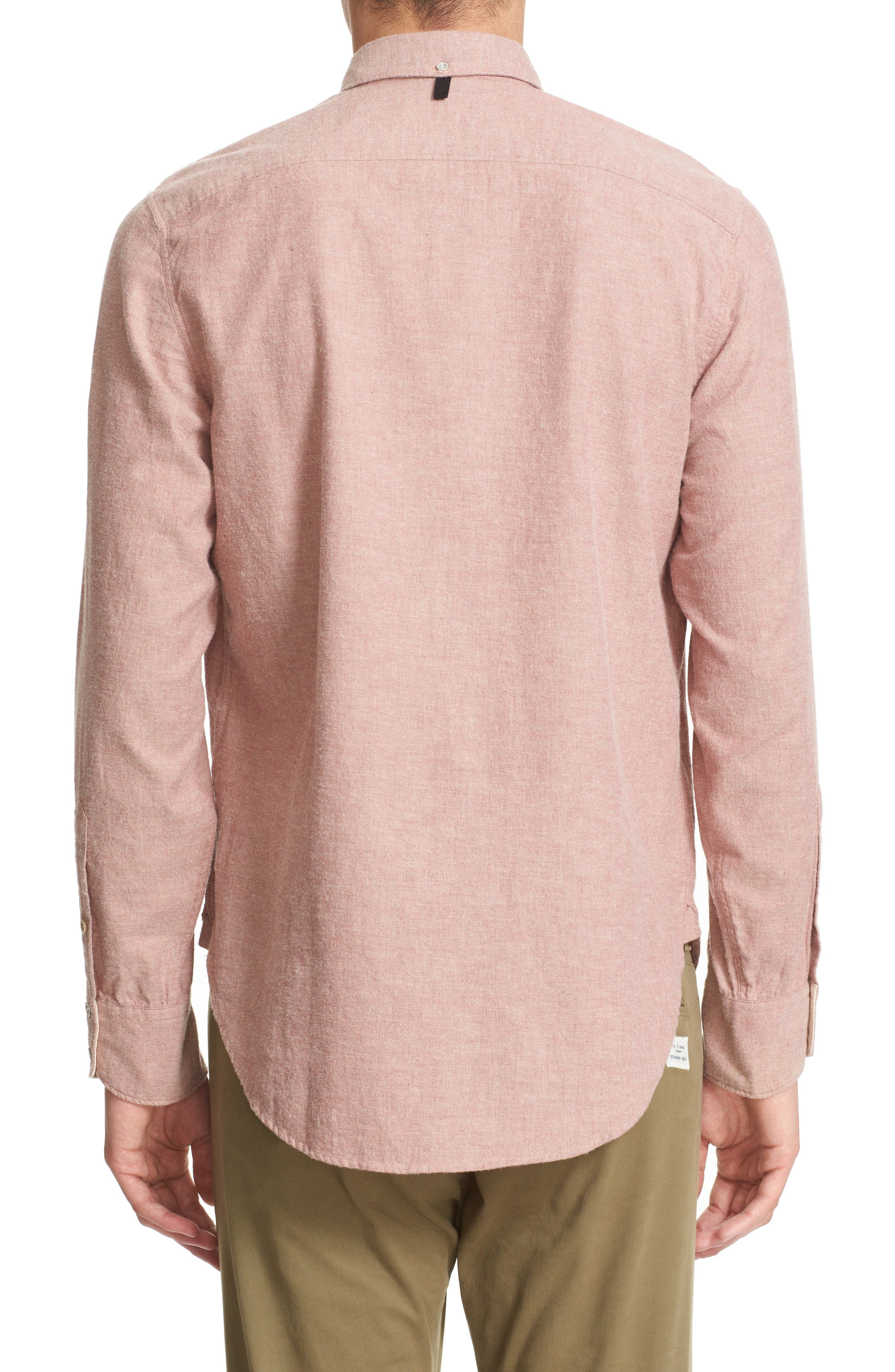 Standard Issue Trim Fit Sport Shirt,                             Alternate thumbnail 3, color,                             Pink