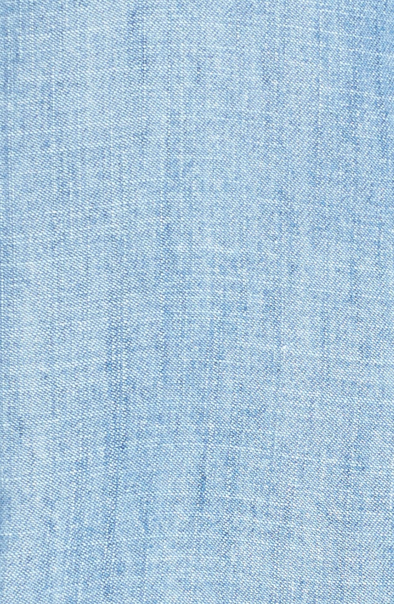 Ingrid Chambray Shirt,                             Alternate thumbnail 5, color,                             Indigo