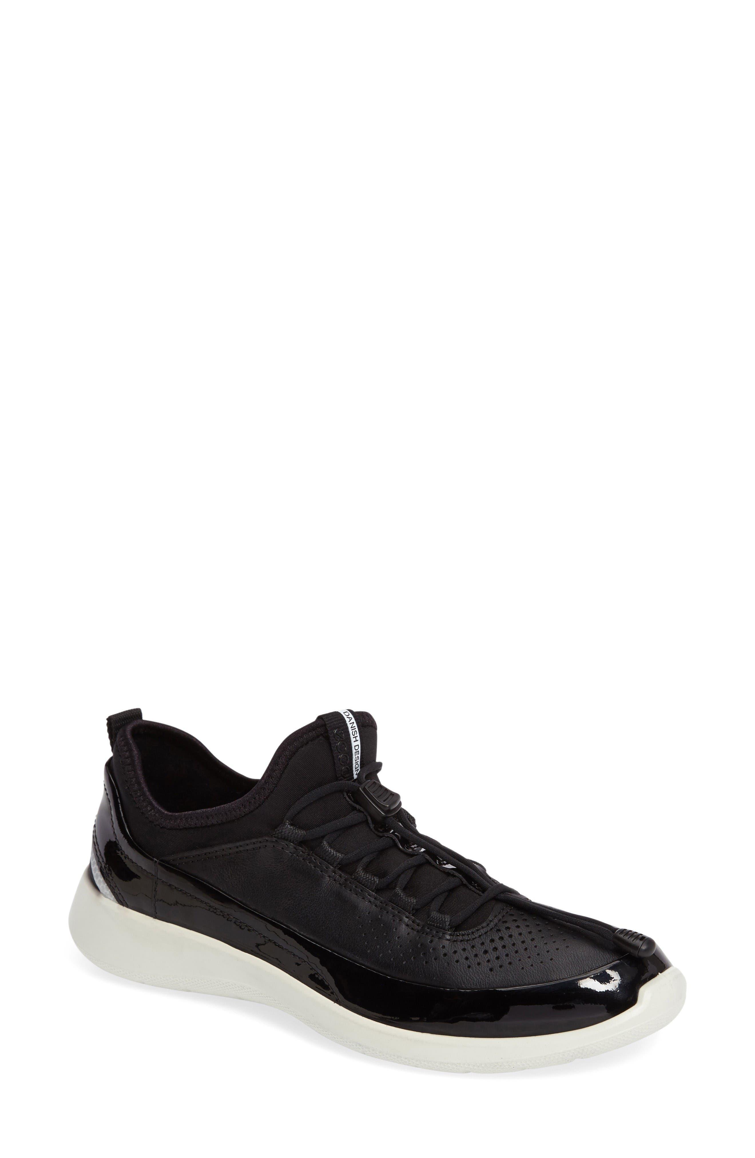 Soft 5 Sneaker,                             Main thumbnail 1, color,                             Black Leather