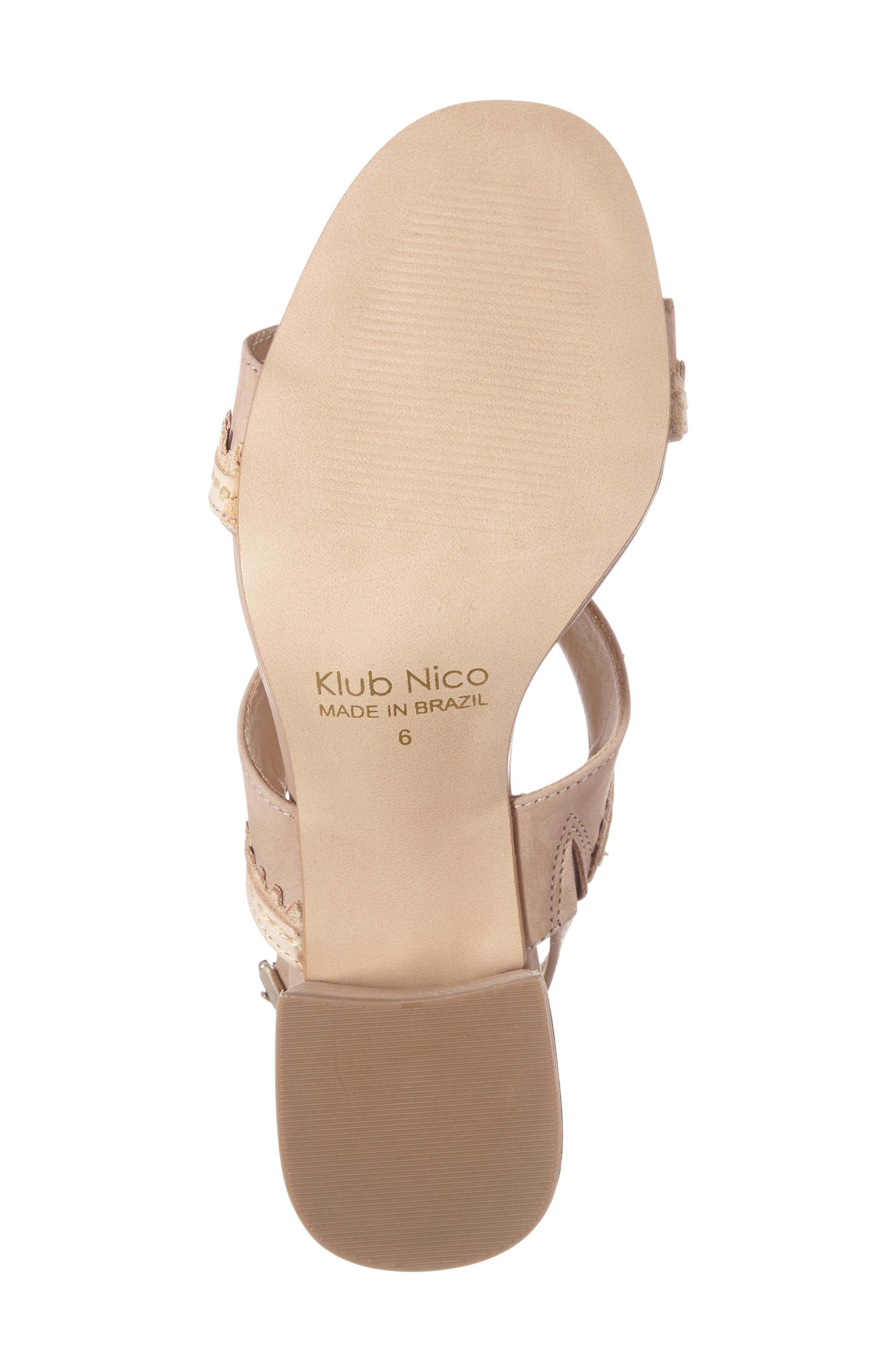 Rycca Block Heel Sandal,                             Alternate thumbnail 4, color,                             Blush Leather
