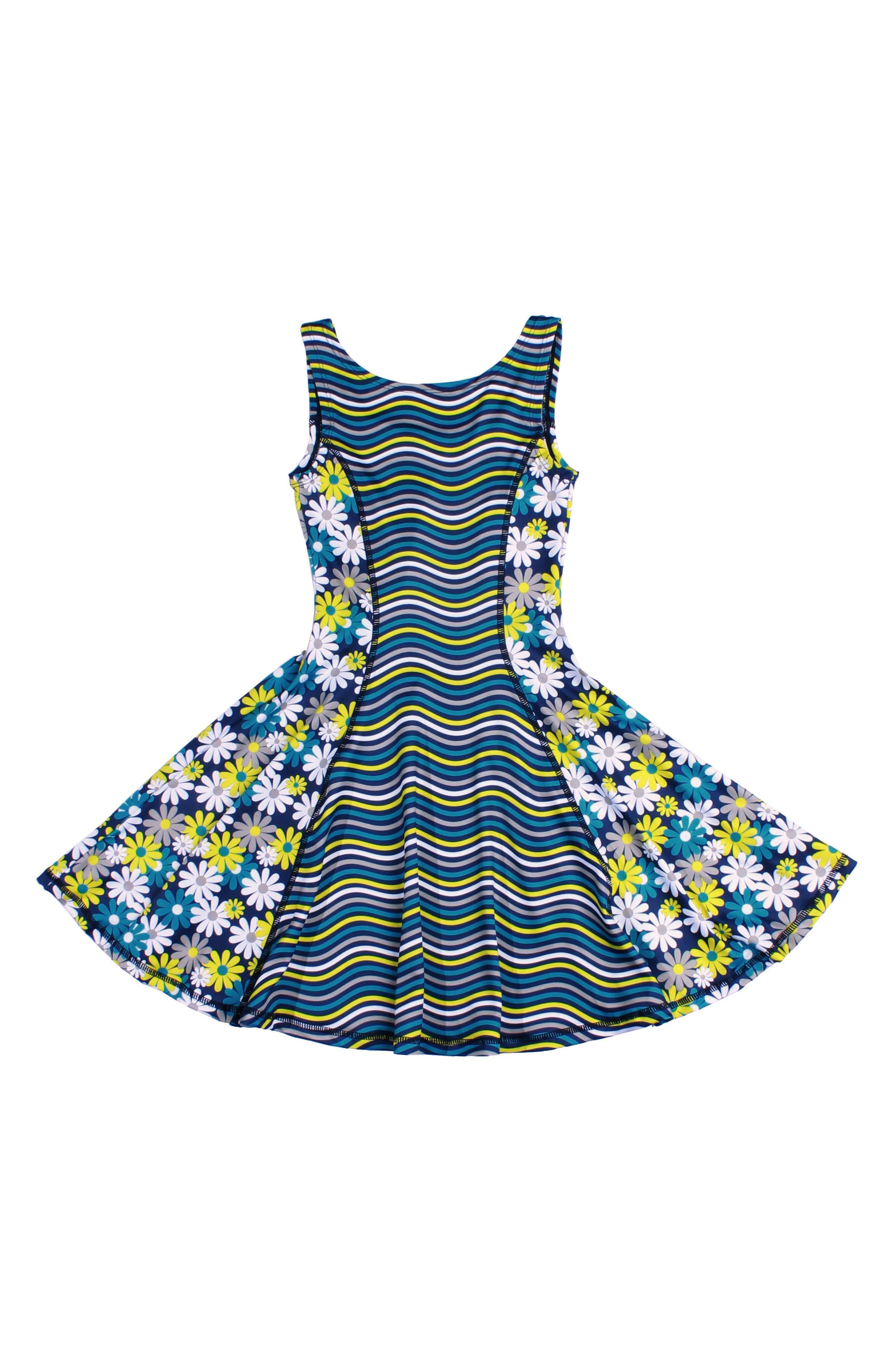 Flow Mixed Print Dress,                             Main thumbnail 1, color,                             Perform