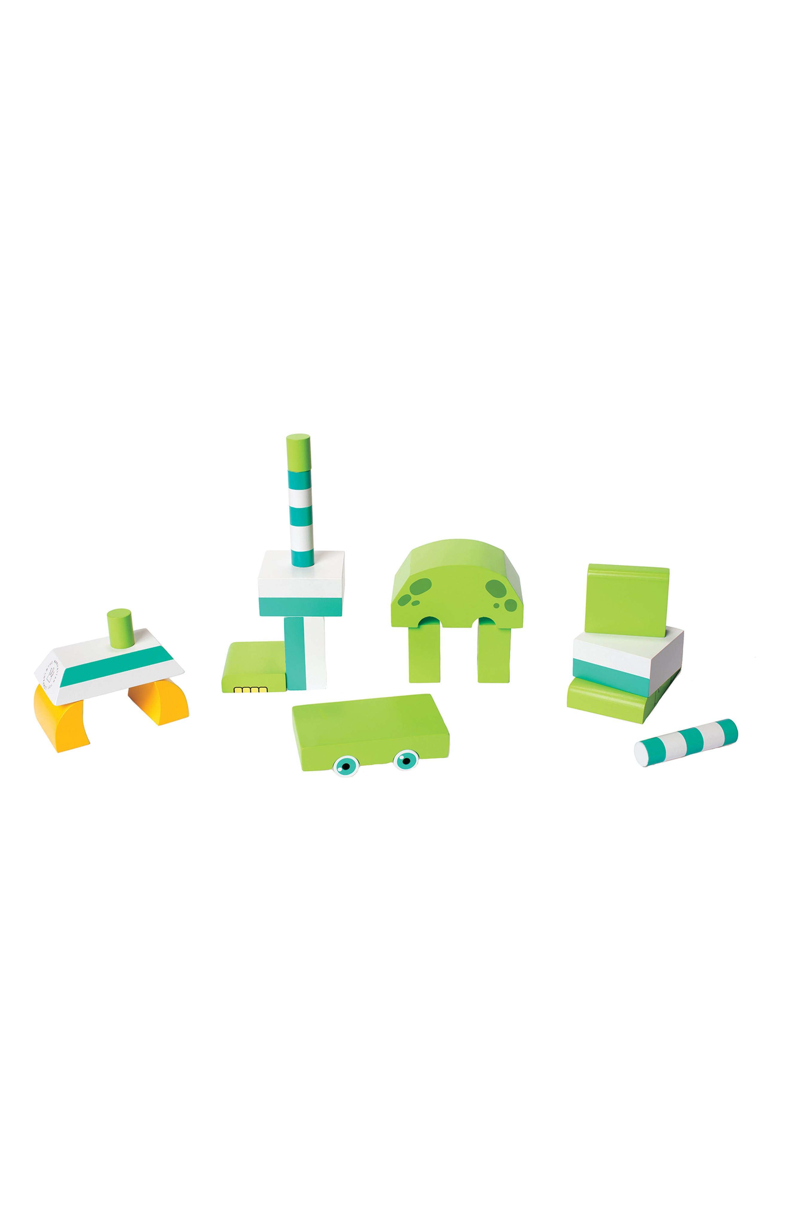 Monty the Monster Magnetic Blocks,                             Alternate thumbnail 2, color,                             Green