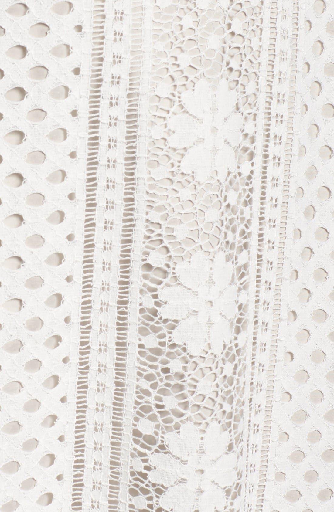 A-Line Lace Dress,                             Alternate thumbnail 5, color,                             Ivory/Chamois