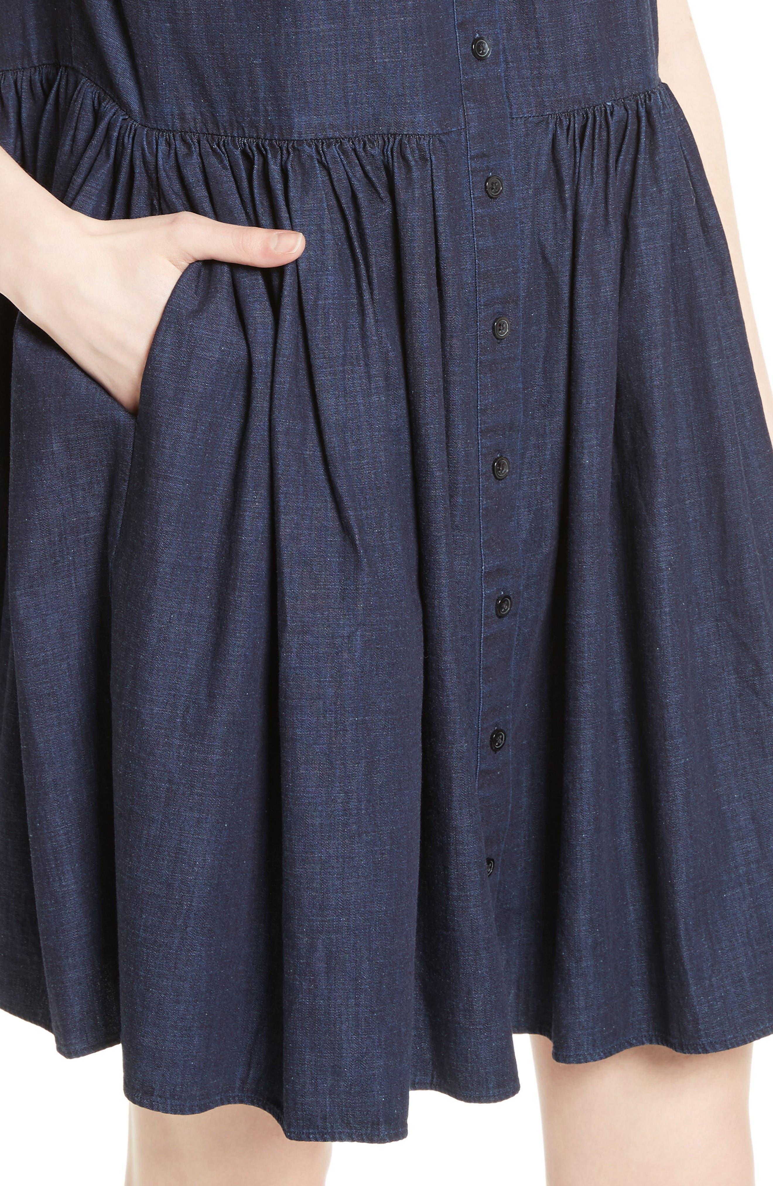 Alternate Image 4  - kate spade new york chambray swing shirtdress
