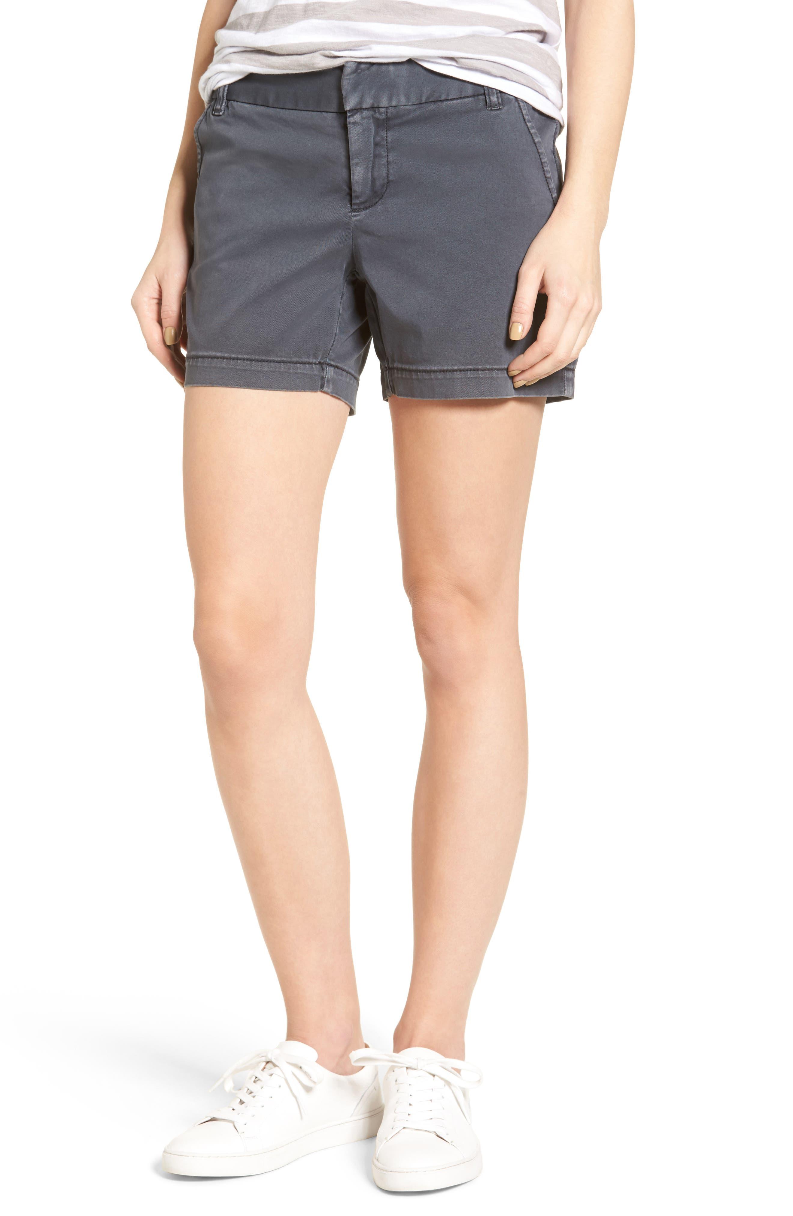 Caslon® Cotton Twill Shorts (Regular & Petite)