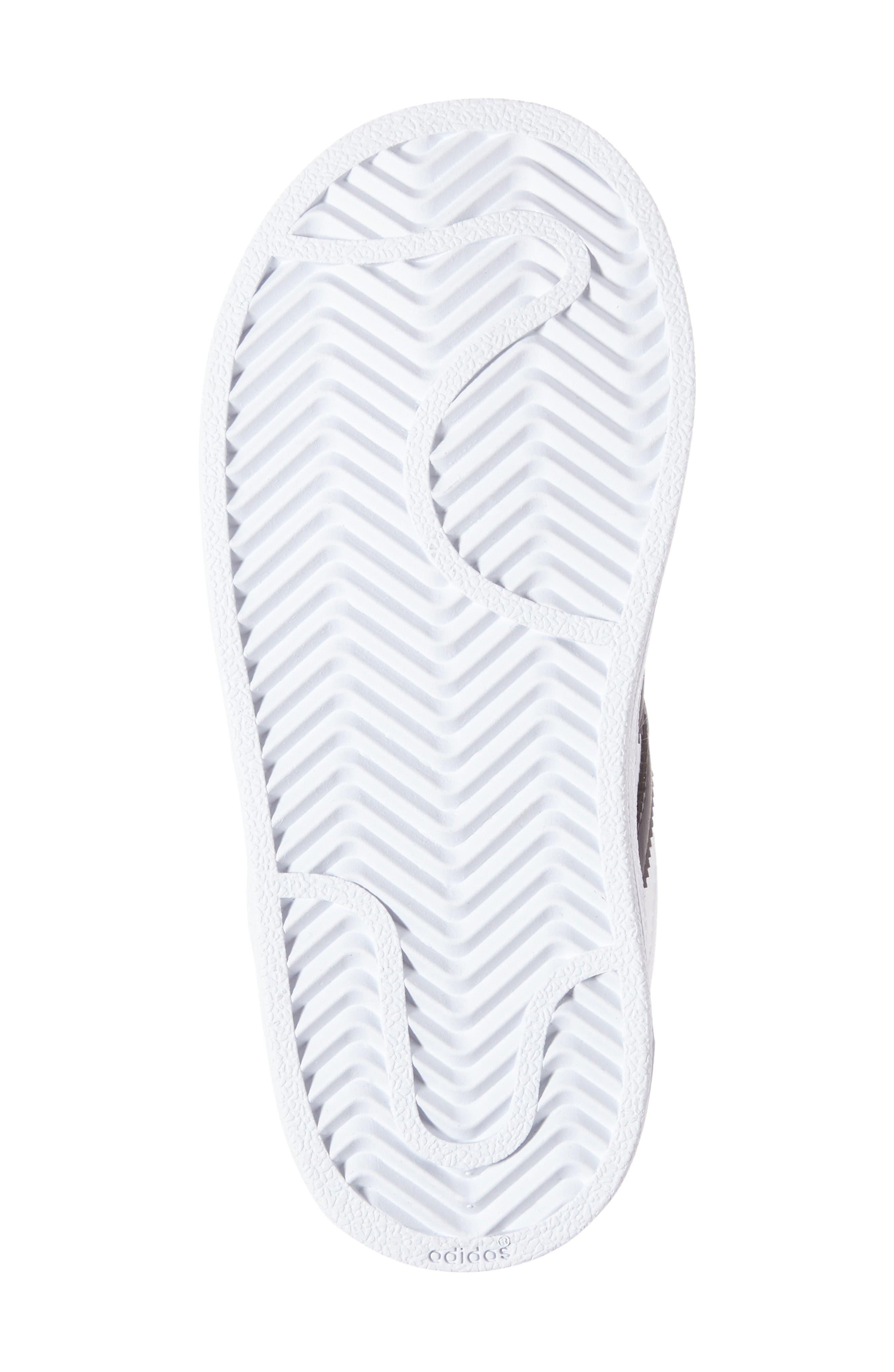 Superstar Foundation Sneaker,                             Alternate thumbnail 4, color,                             White/ Core Black/ White