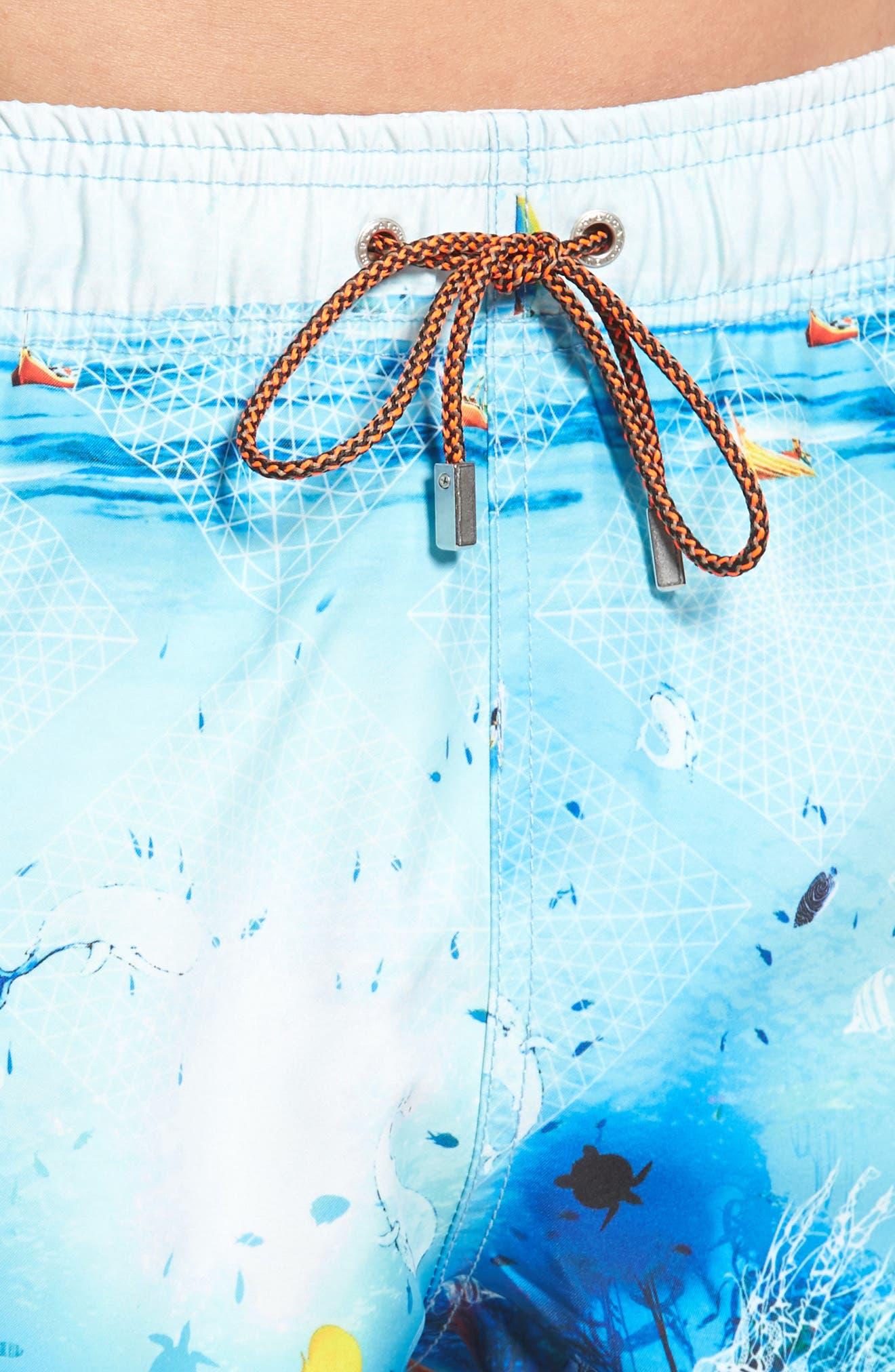 Alternate Image 4  - Bugatchi Swim Trunks