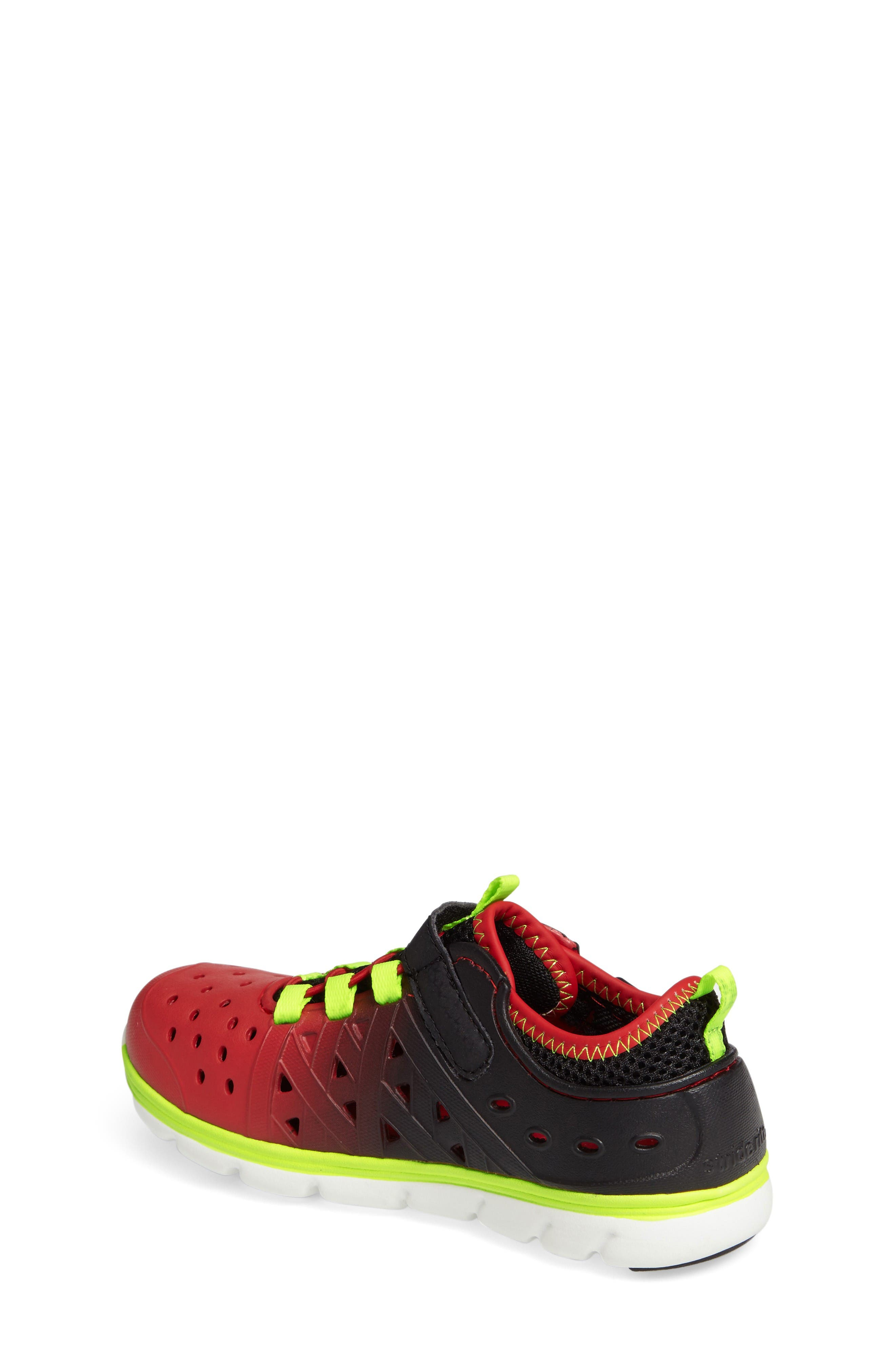 Made2Play<sup>®</sup> Phibian Sneaker,                             Alternate thumbnail 2, color,                             Black/ Red