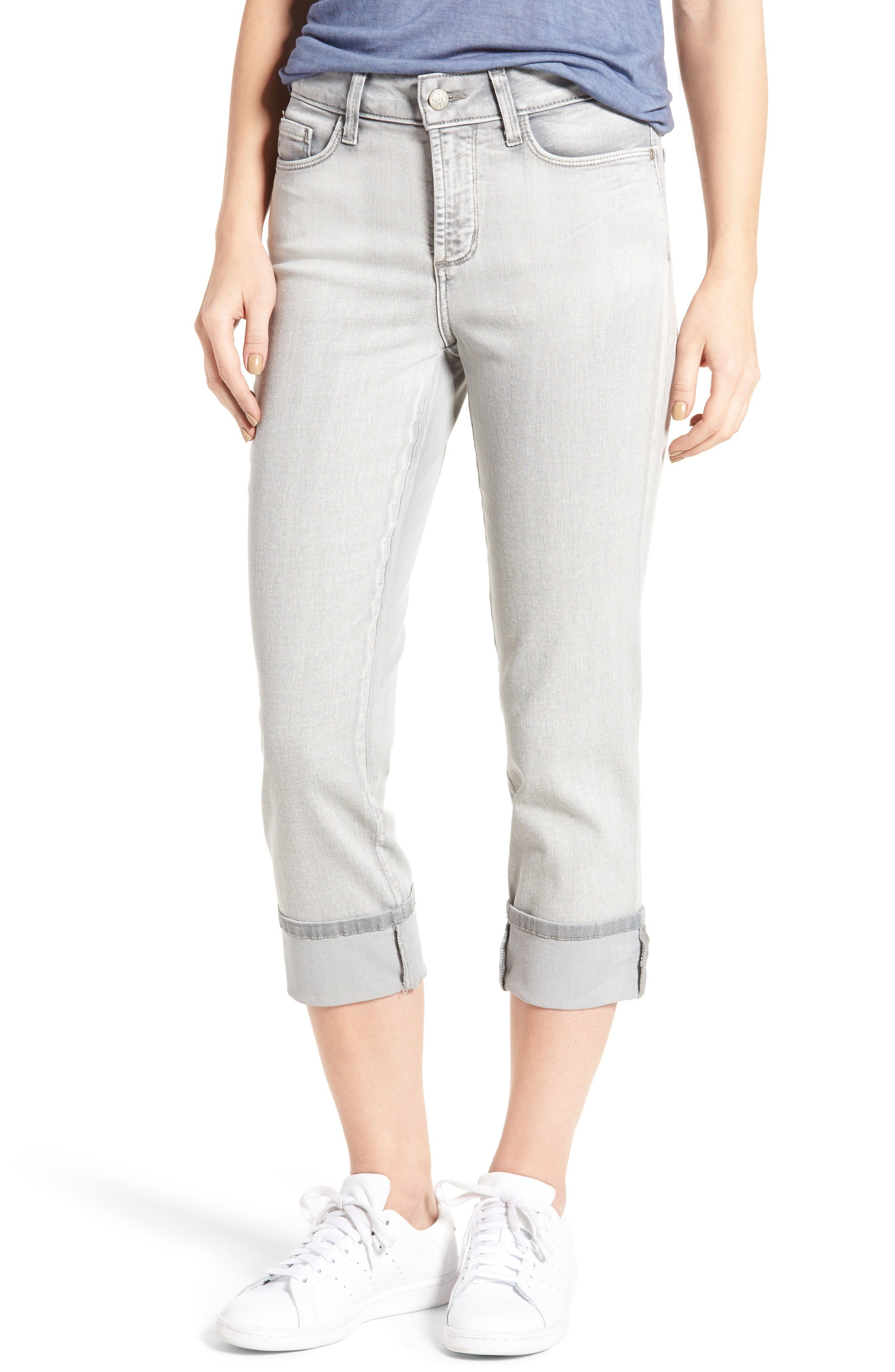 'Dayla' Colored Wide Cuff Capri Jeans,                             Main thumbnail 1, color,                             Reims