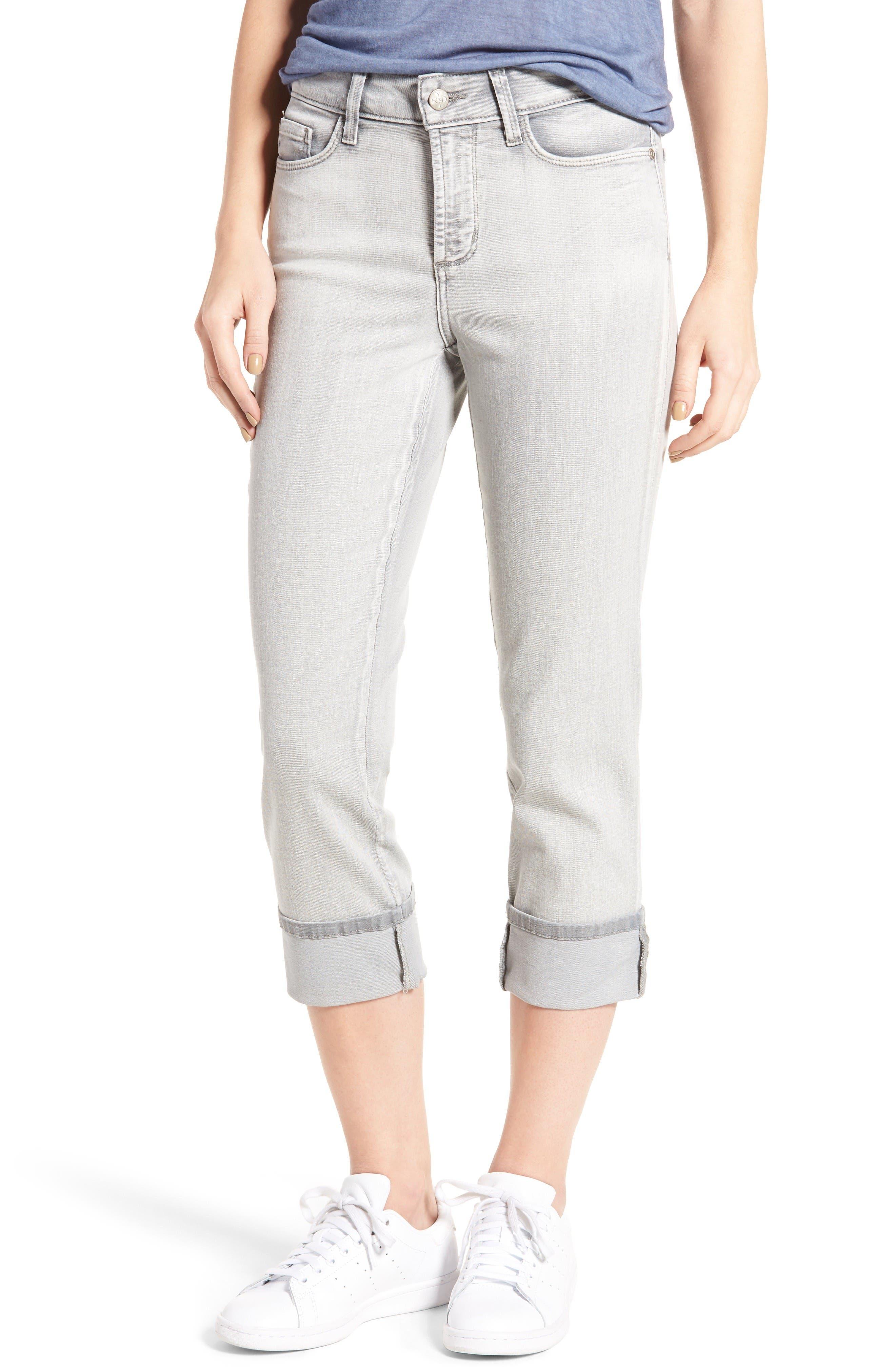 Main Image - NYDJ 'Dayla' Colored Wide Cuff Capri Jeans (Regular & Petite)