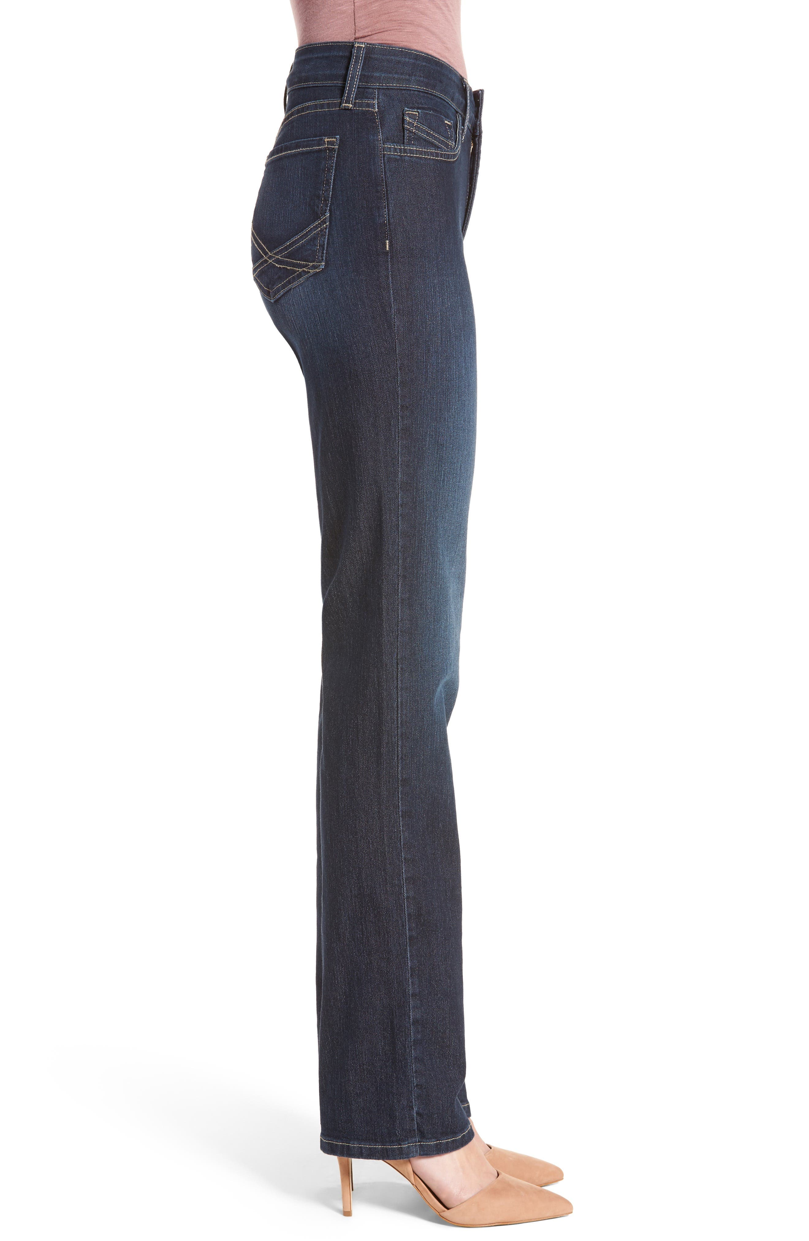 Marilyn Stretch Straight Leg Jeans,                             Alternate thumbnail 3, color,                             Hollywood Wash