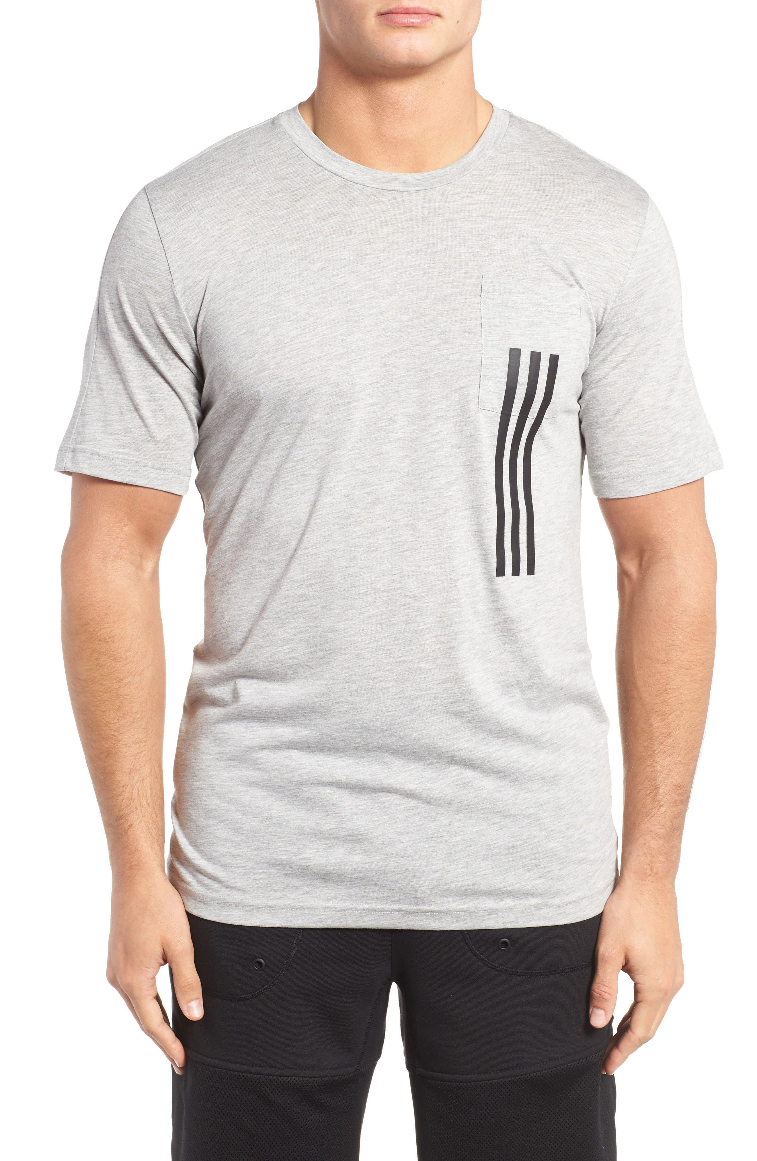 ADIDAS 3-Stripes Pocket T-Shirt