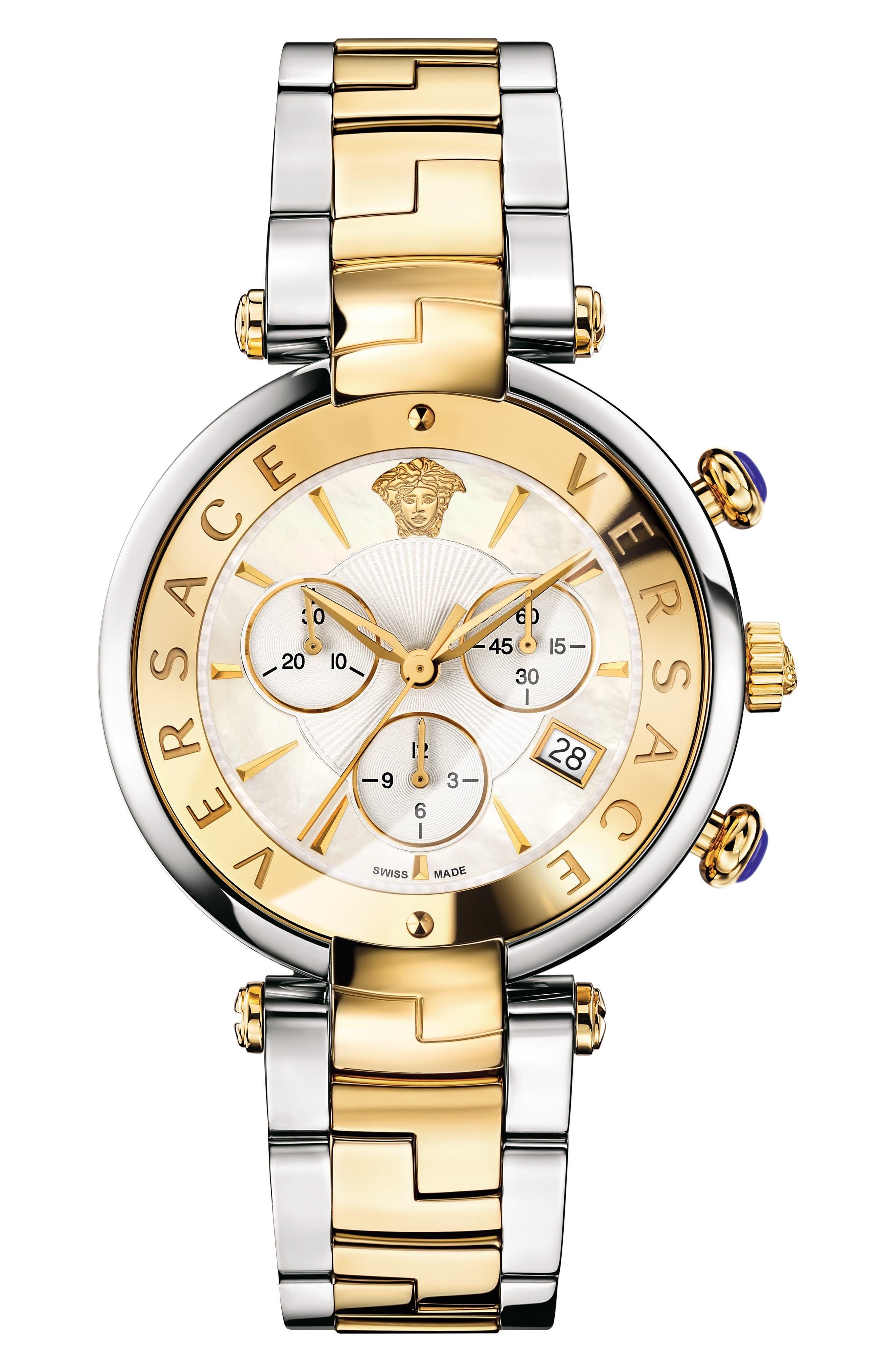 Versace Reve Chronograph Bracelet Watch, 41mm