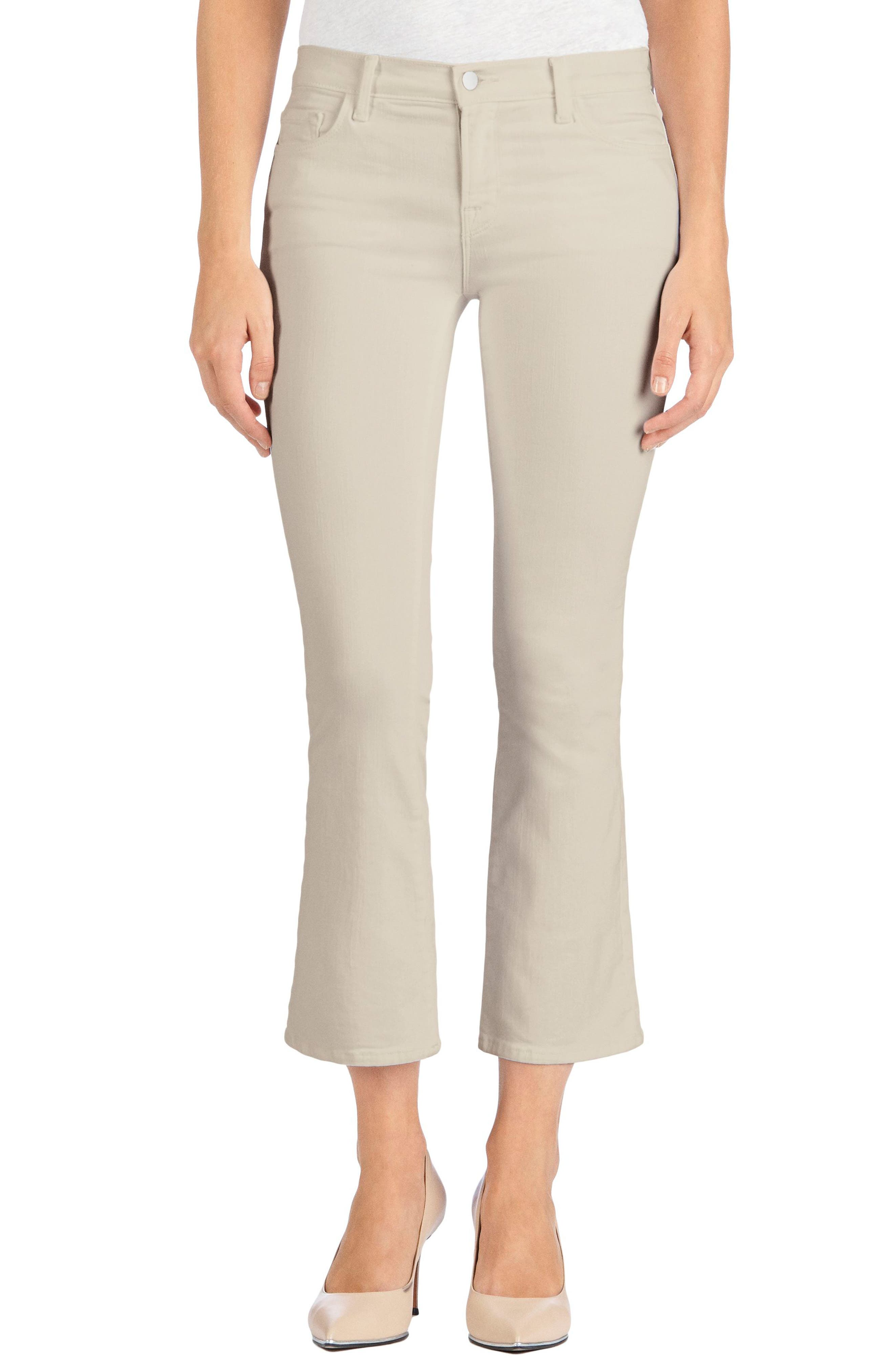 Main Image - J Brand Selena Crop Bootcut Jeans (Distressed Silver Birch)