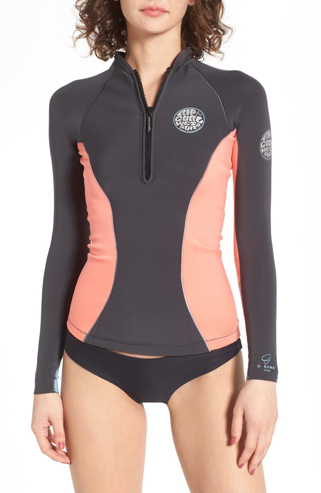 G-Bomb Wetsuit Jacket,                         Main,                         color, Coral