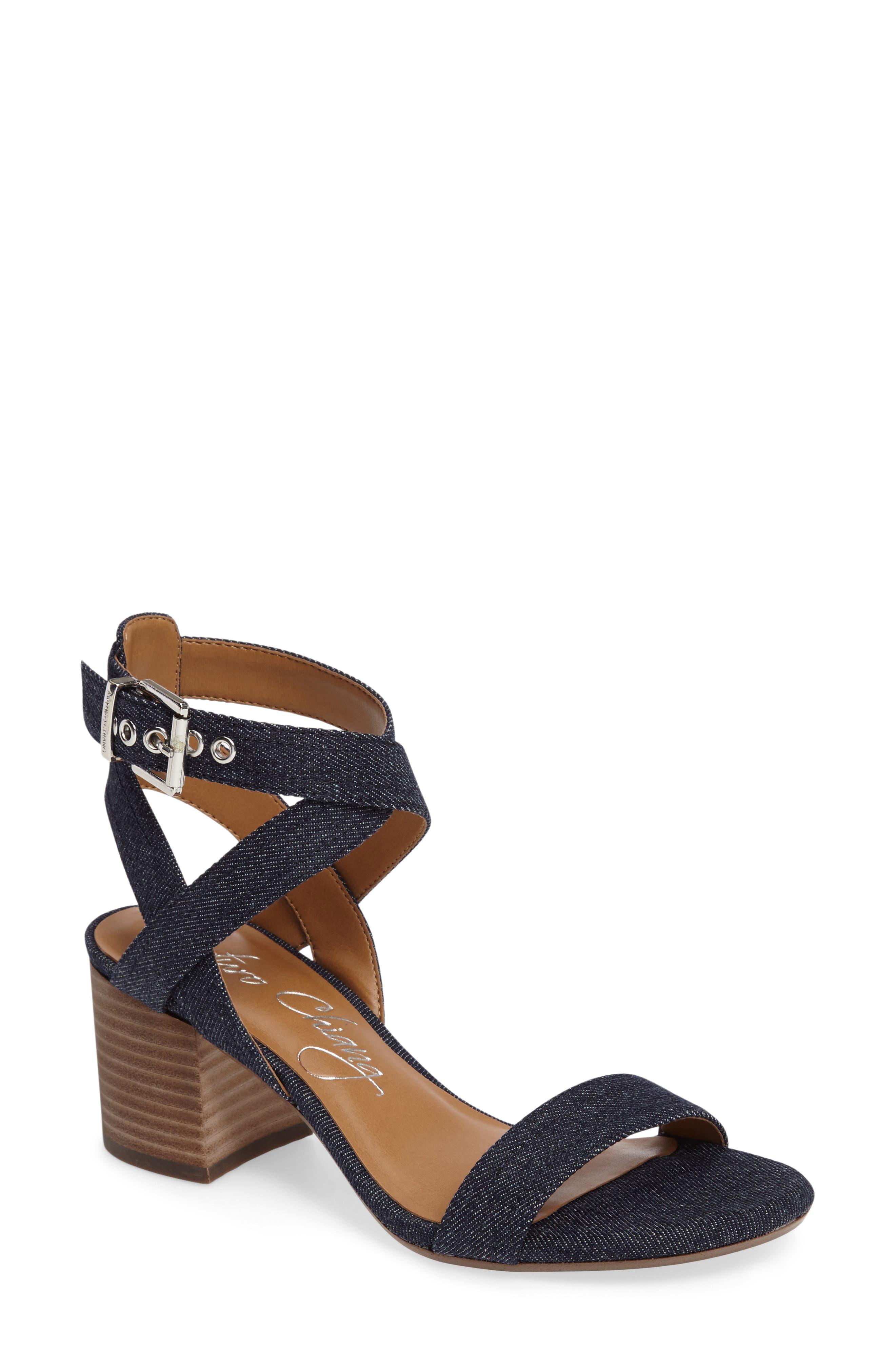 Alternate Image 1 Selected - Arturo Chiang Hammil Block Heel Sandal (Women)