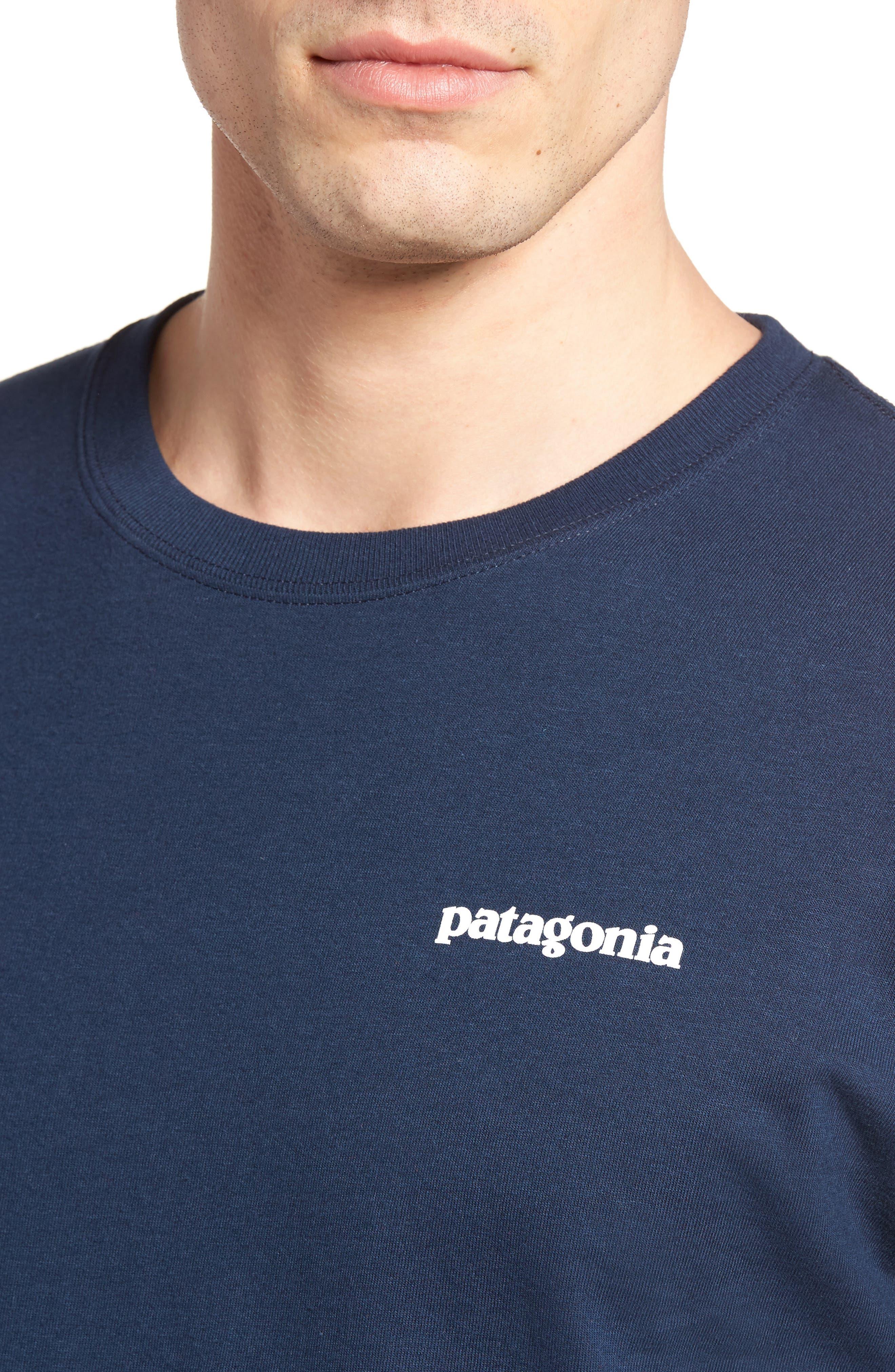 P-6 Logo Organic Cotton T-Shirt,                             Alternate thumbnail 4, color,                             Blue