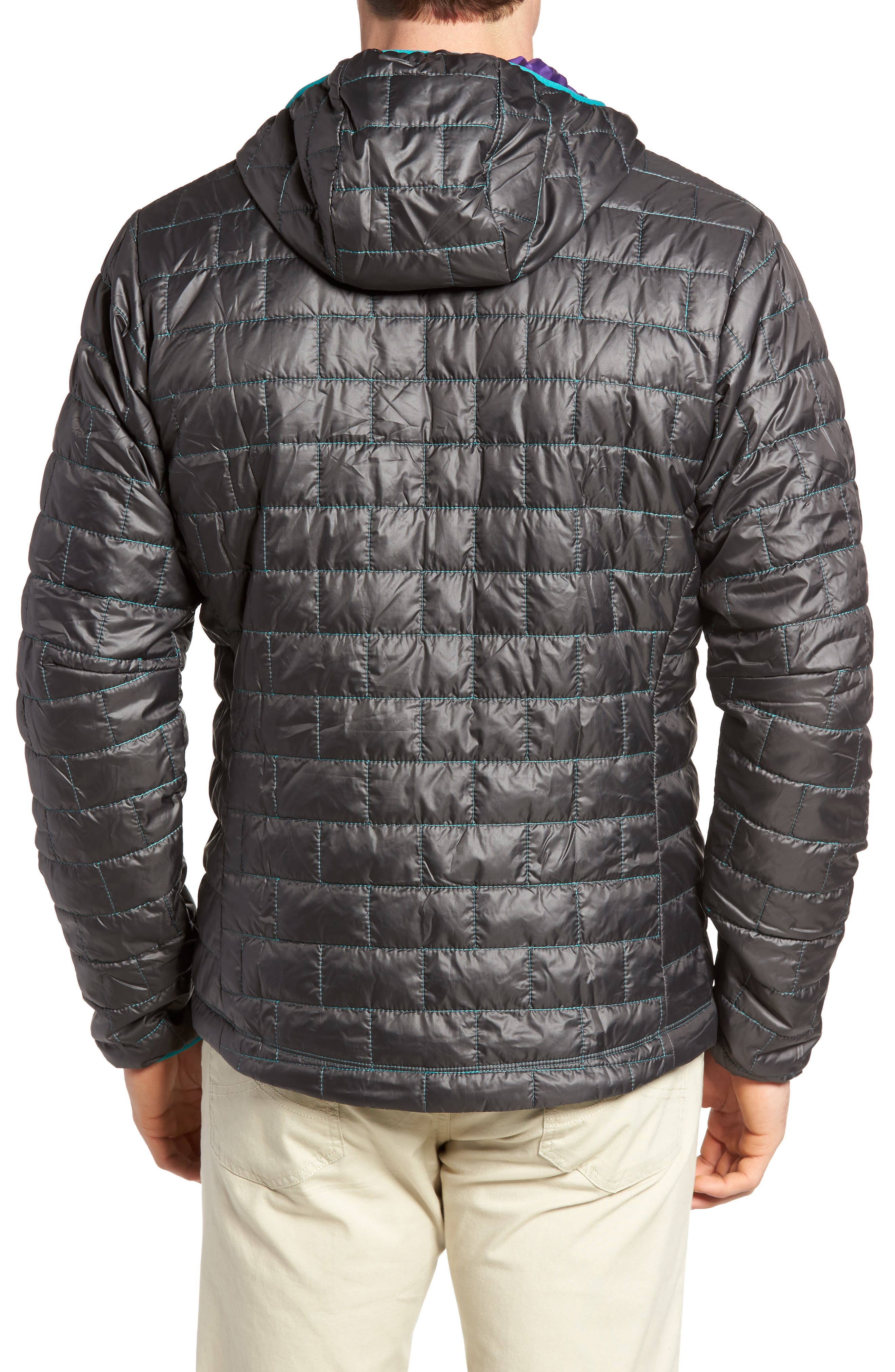 Nano Puff<sup>®</sup> Bivy Regular Fit Water Resistant Jacket,                             Alternate thumbnail 2, color,                             Black
