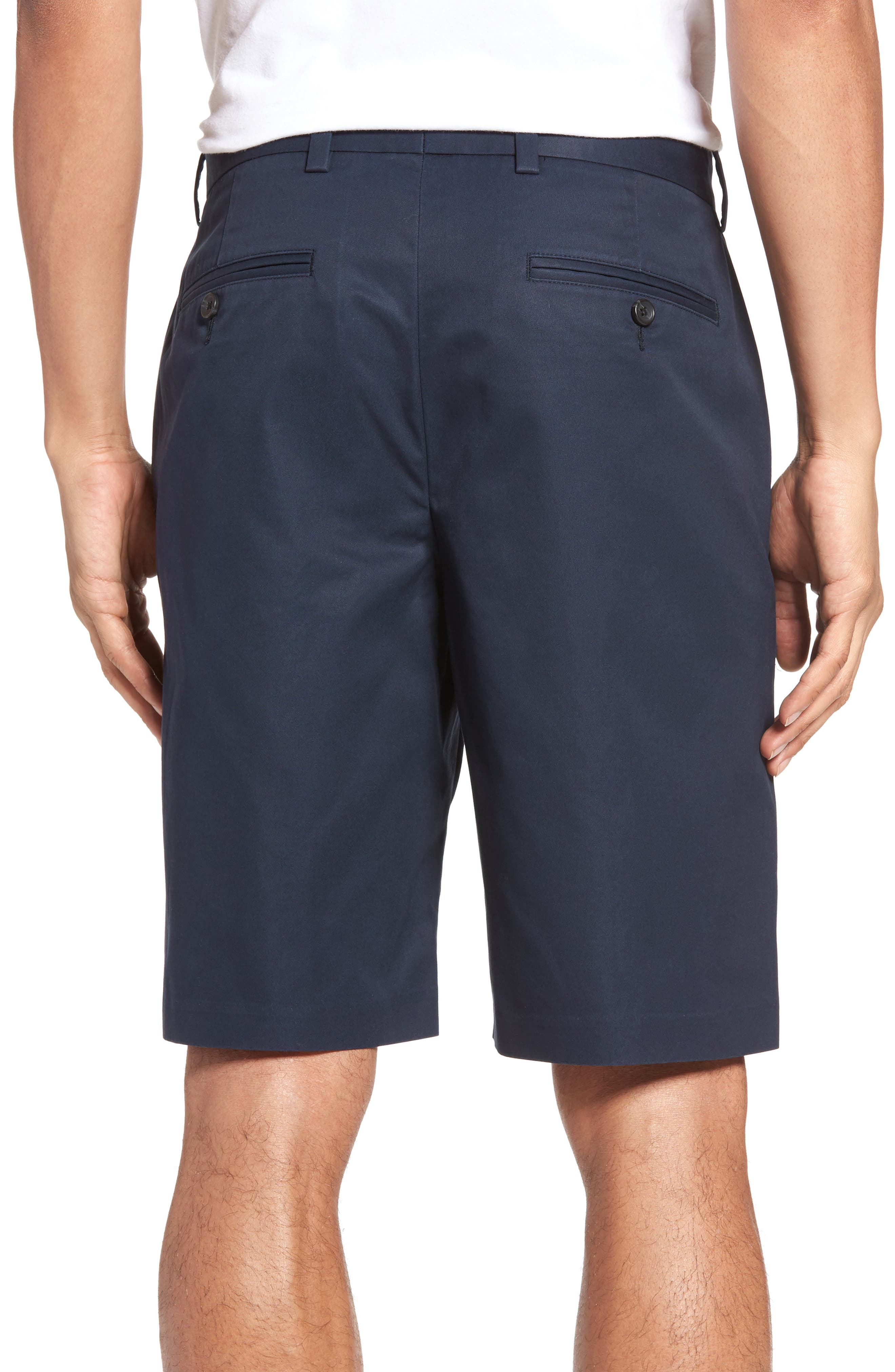 Flat Front Supima<sup>®</sup> Cotton Shorts,                             Alternate thumbnail 2, color,                             Navy Eclipse