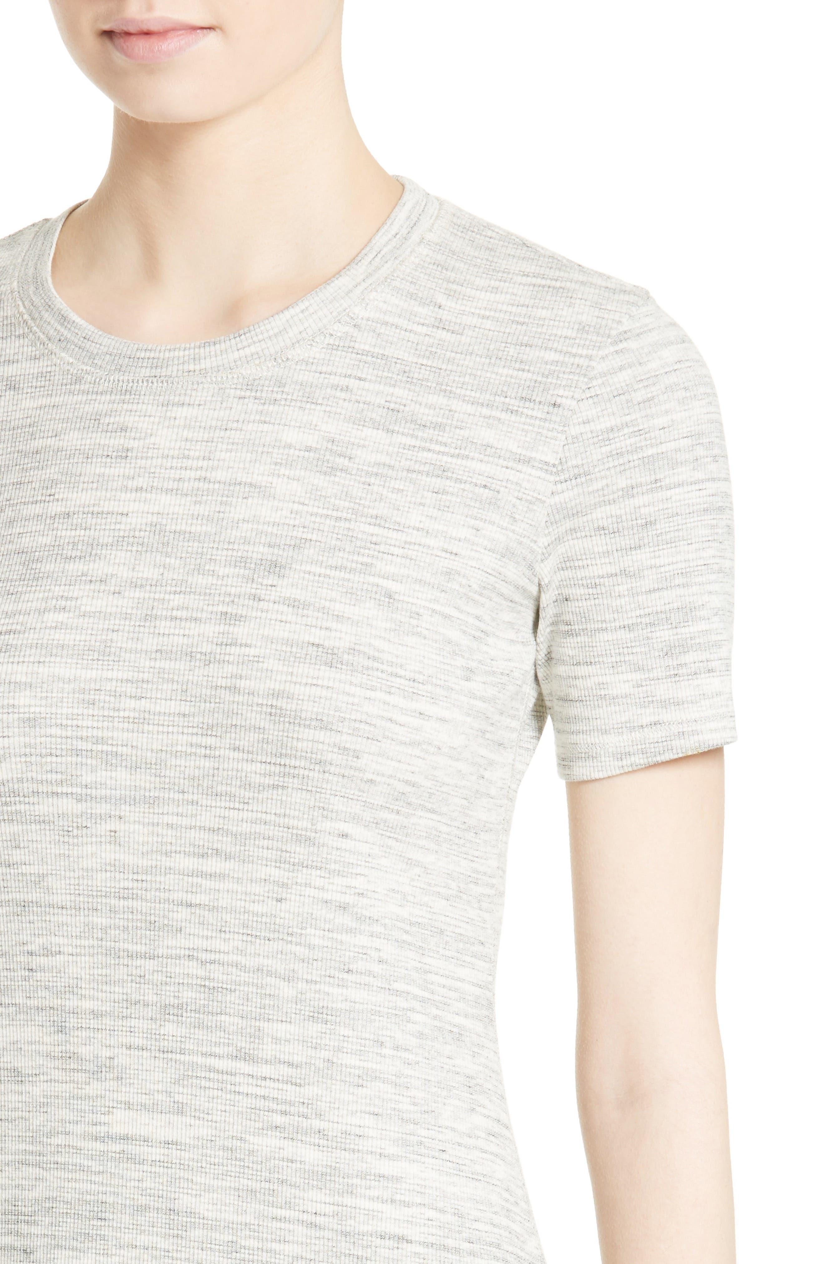 Alternate Image 4  - Theory Cherry B3 Sterling Rib Knit T-Shirt Dress