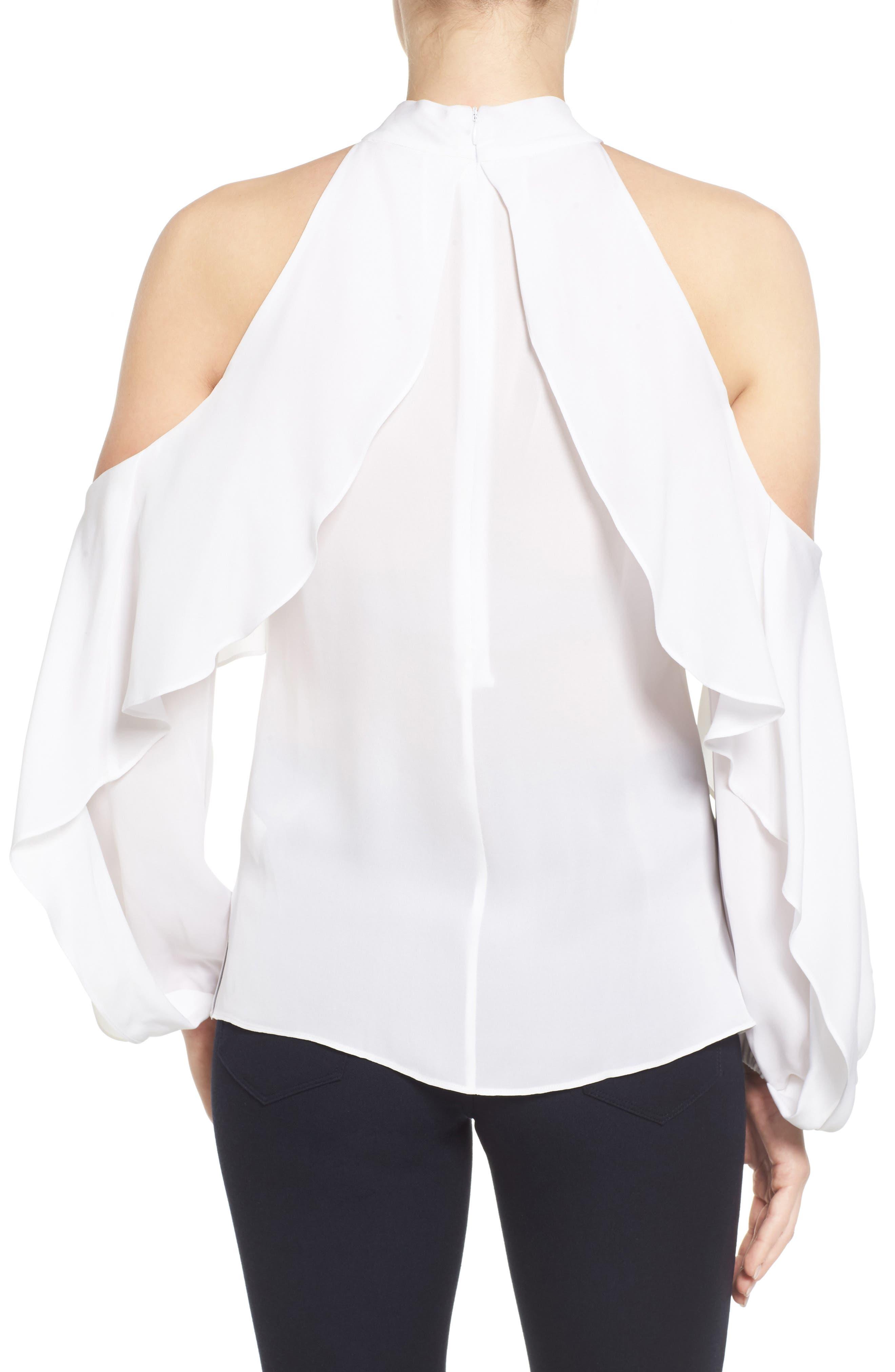 Alternate Image 2  - Kobi Halperin Adrienne Cold Shoulder Silk Blouse