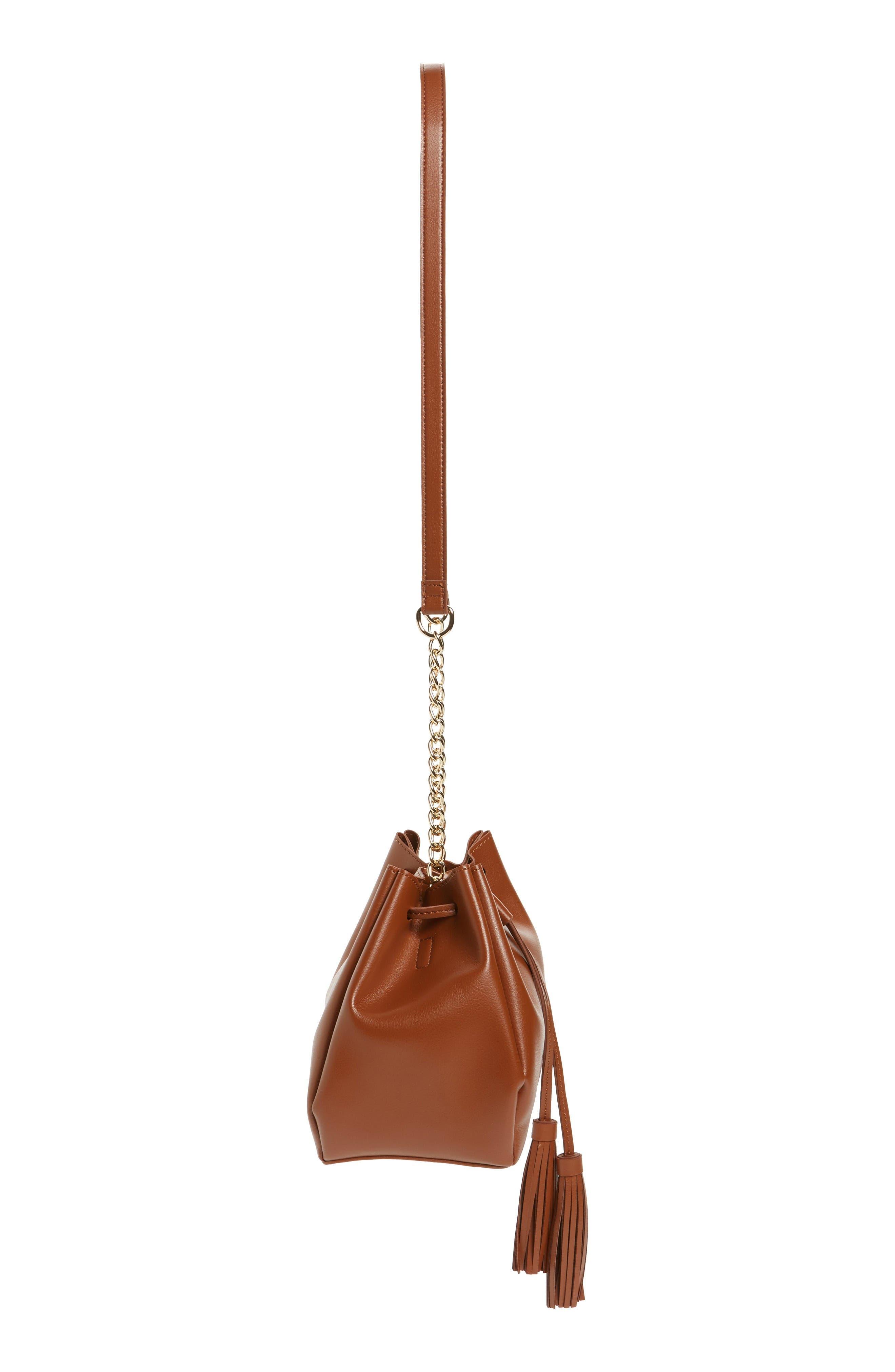 Alternate Image 5  - Emperia Dahlia Faux Leather Bucket Bag