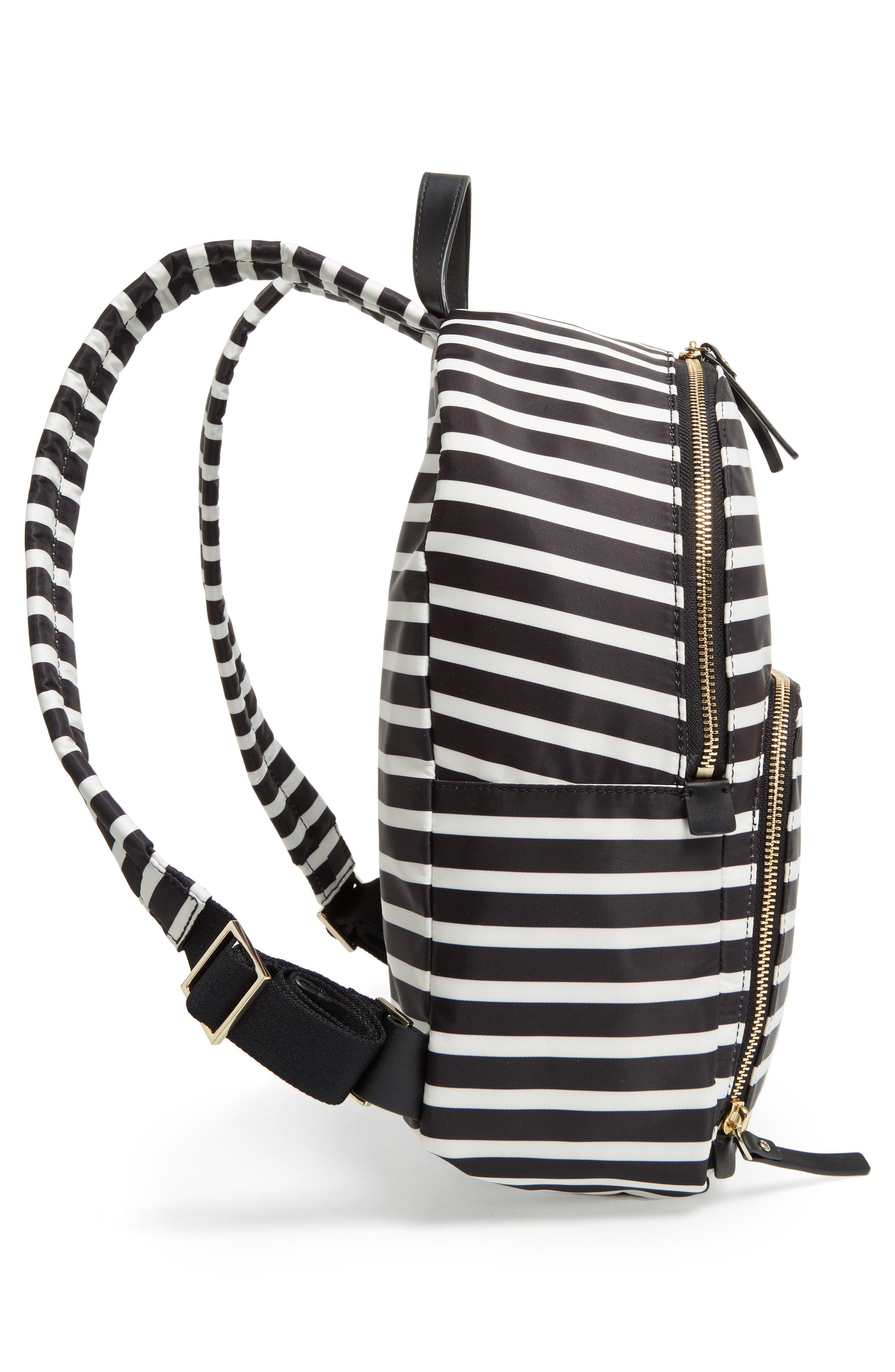 watson lane - hartley nylon backpack,                             Alternate thumbnail 5, color,                             Black/ Clotted Cream