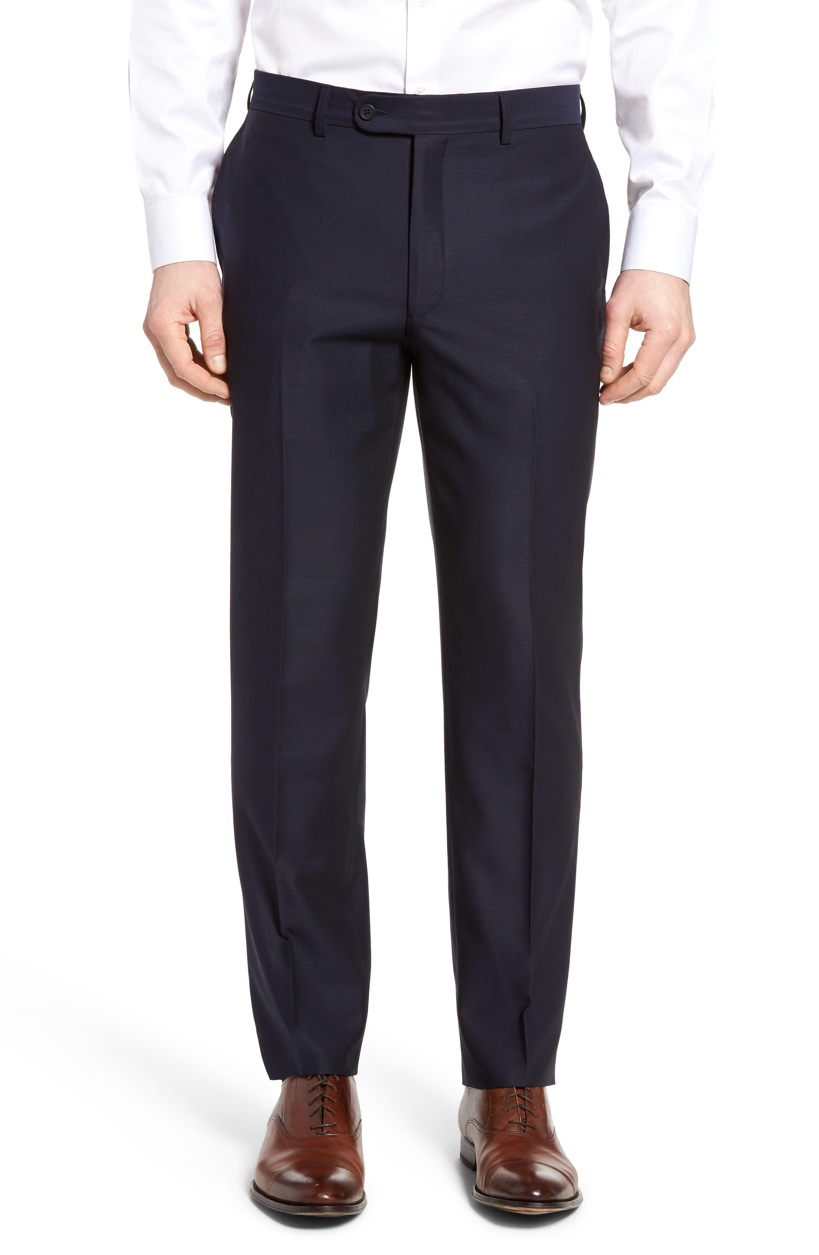 Alternate Image 1 Selected - Bensol Pin Dot Wool Trousers
