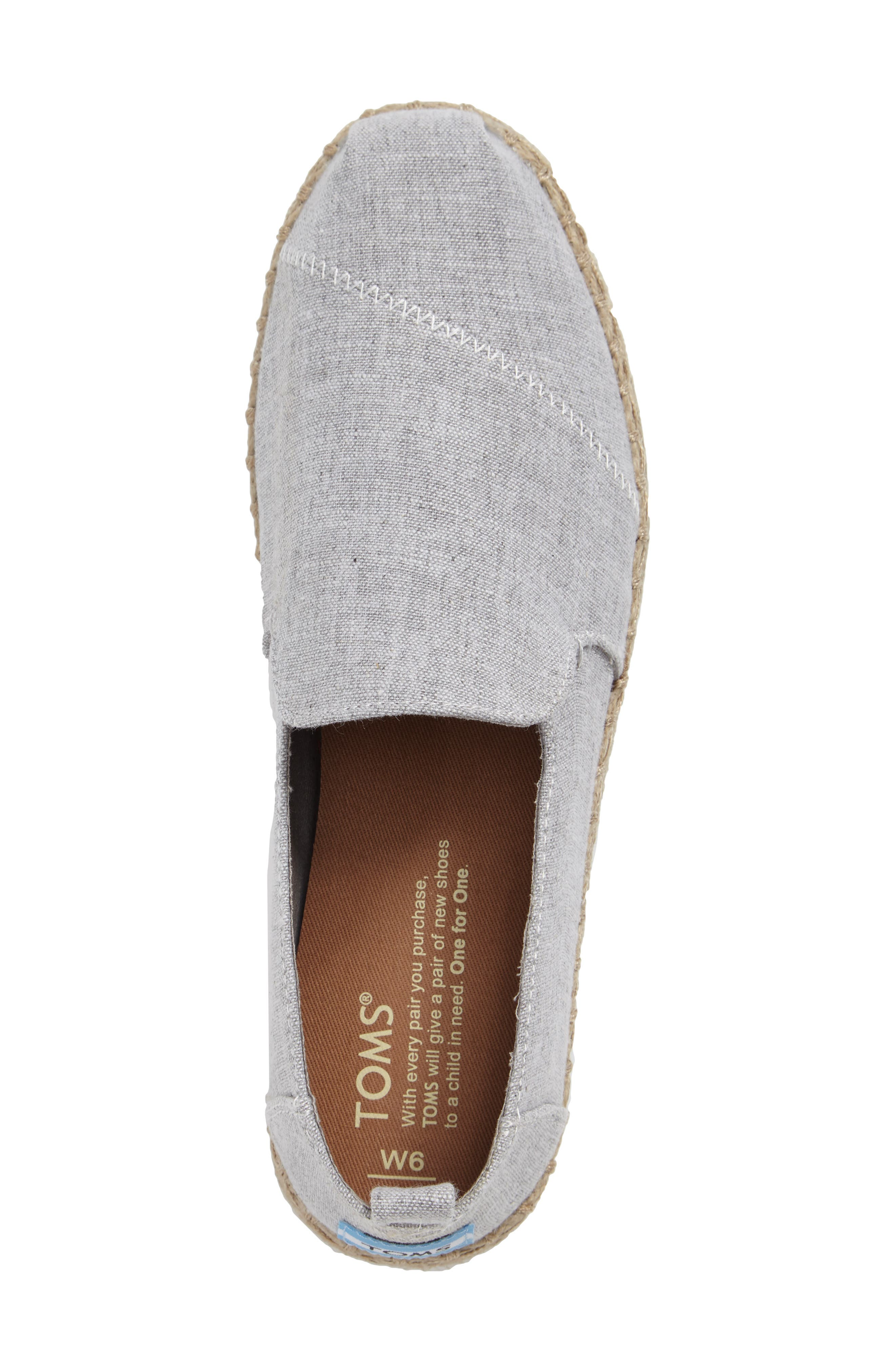Espadrille Slip-On,                             Alternate thumbnail 3, color,                             Grey