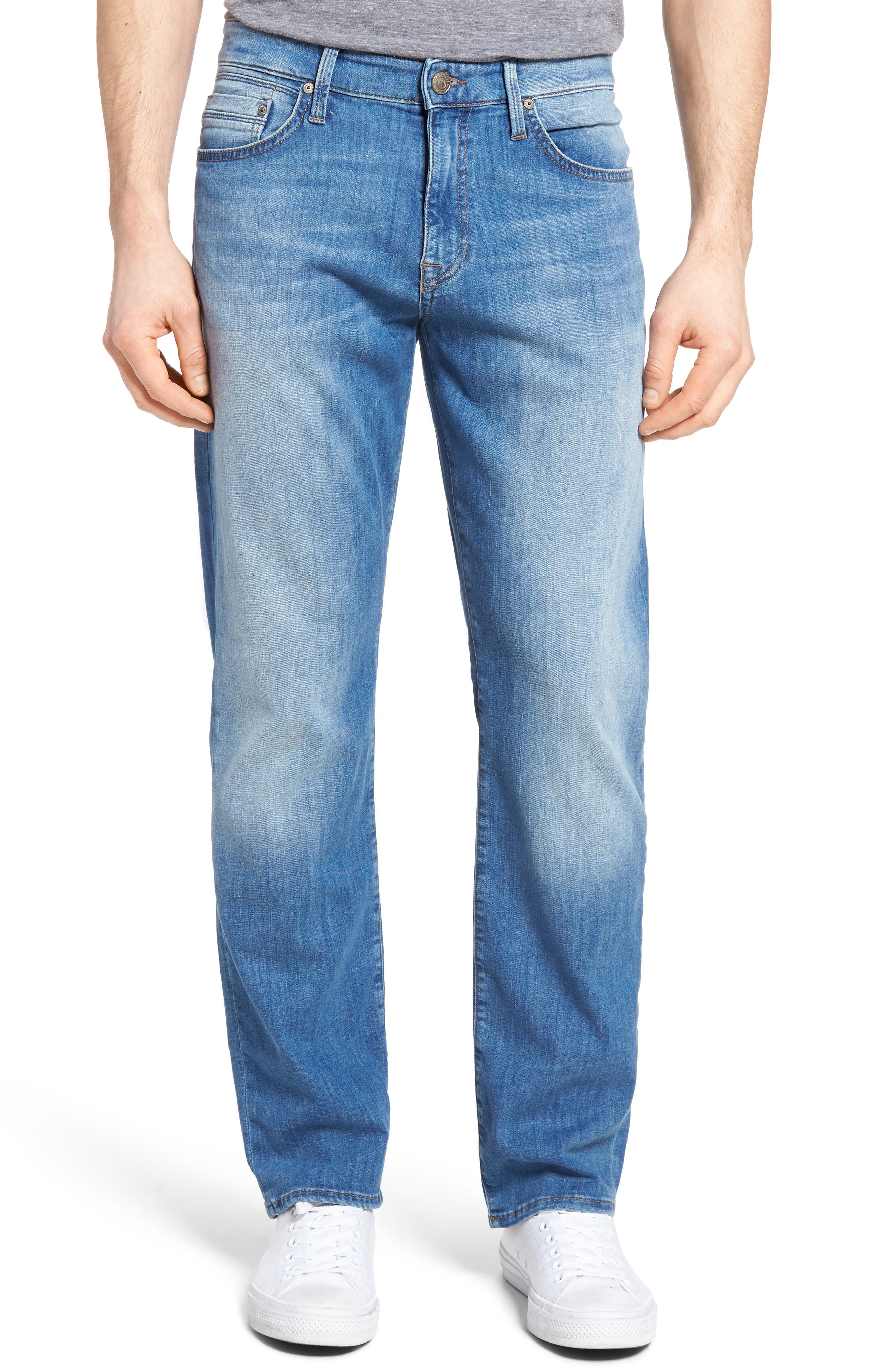Alternate Image 1 Selected - Mavi Jeans Myles Straight Leg Jeans (Mid Blue Portland)