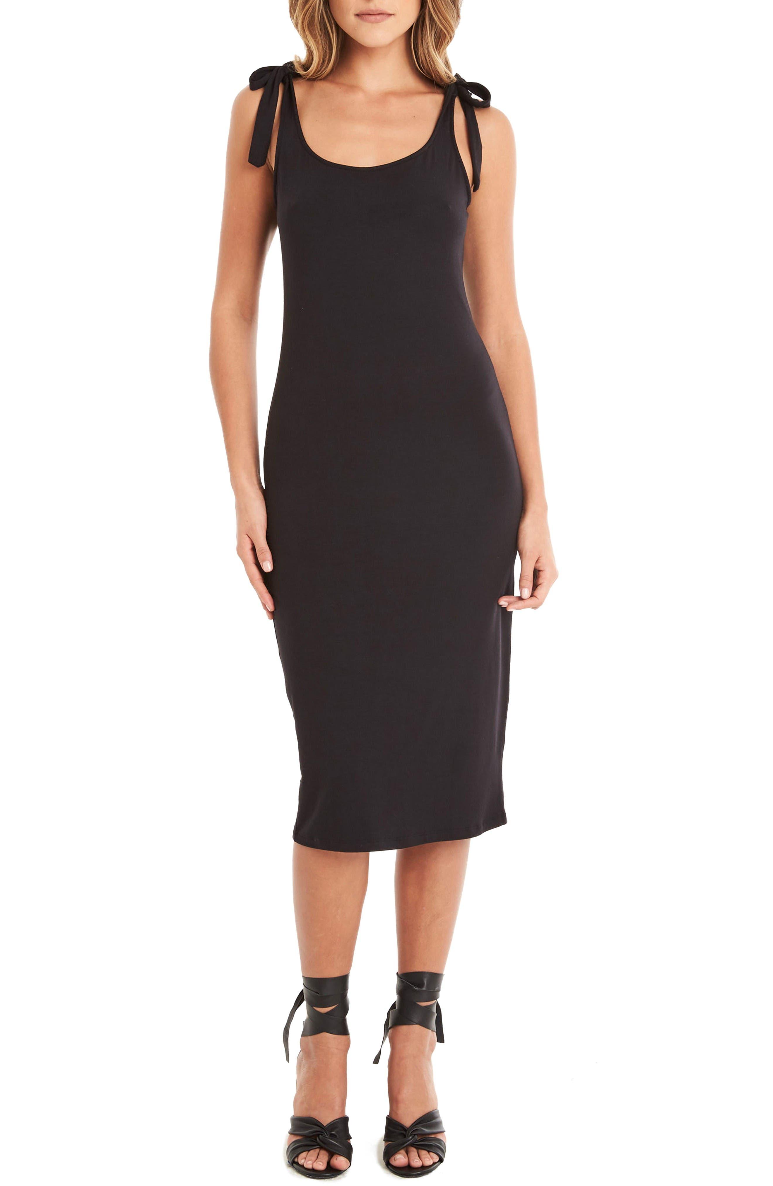 Midi Tank Dress,                             Main thumbnail 1, color,                             Black