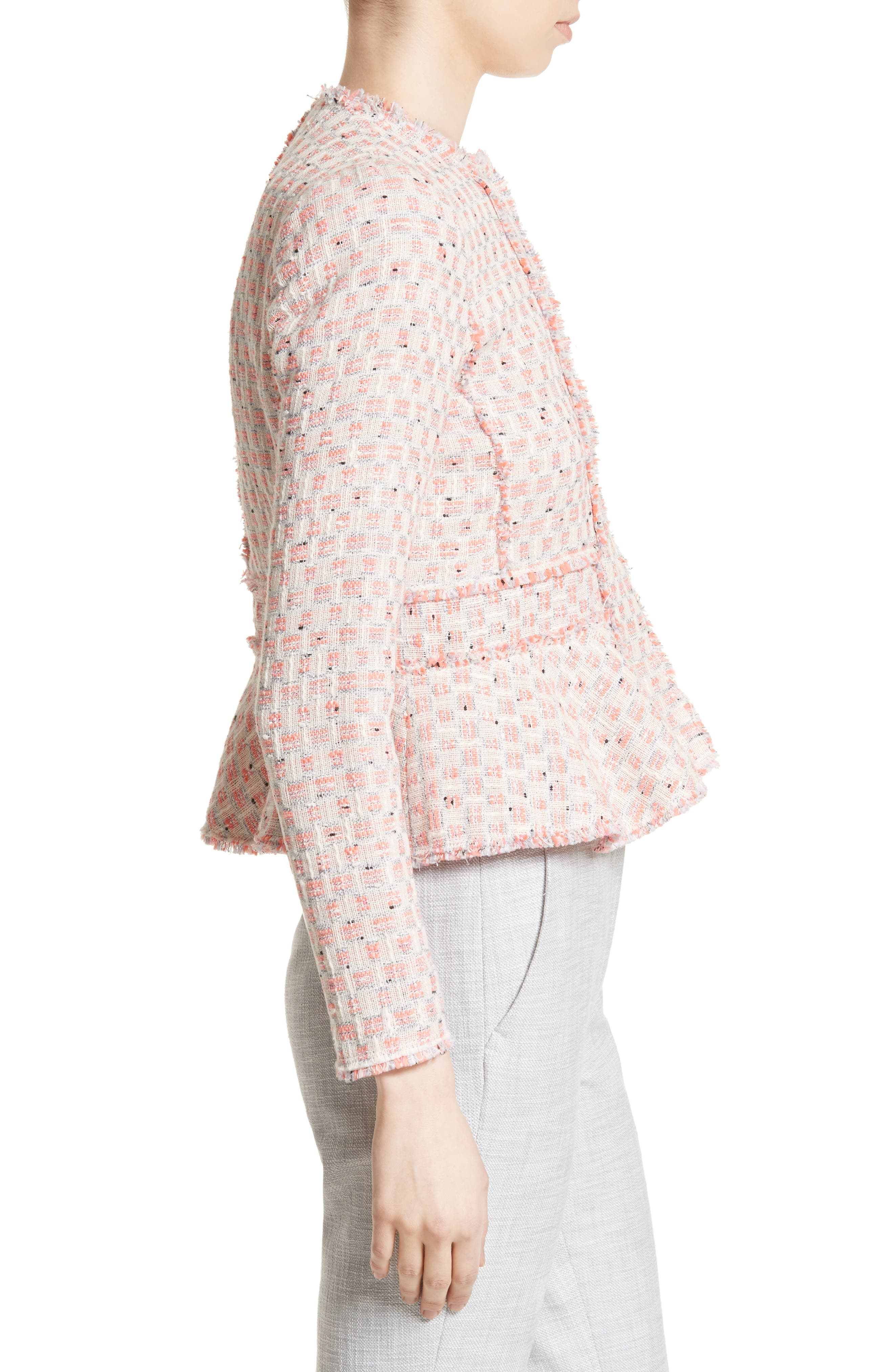 Alternate Image 3  - Rebecca Taylor Tweed Peplum Jacket