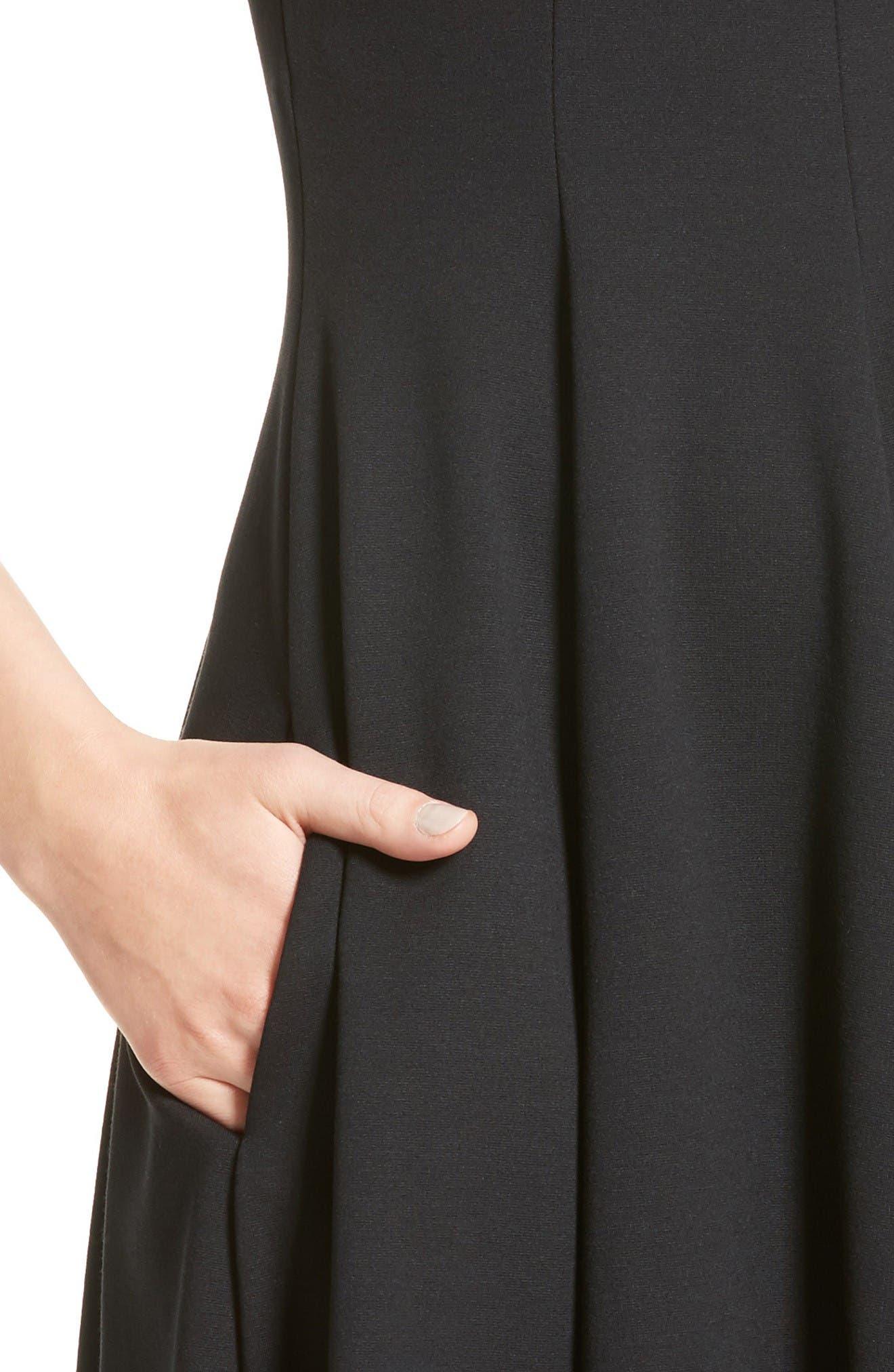 Alternate Image 6  - Armani Collezioni Off the Shoulder Fit & Flare Dress