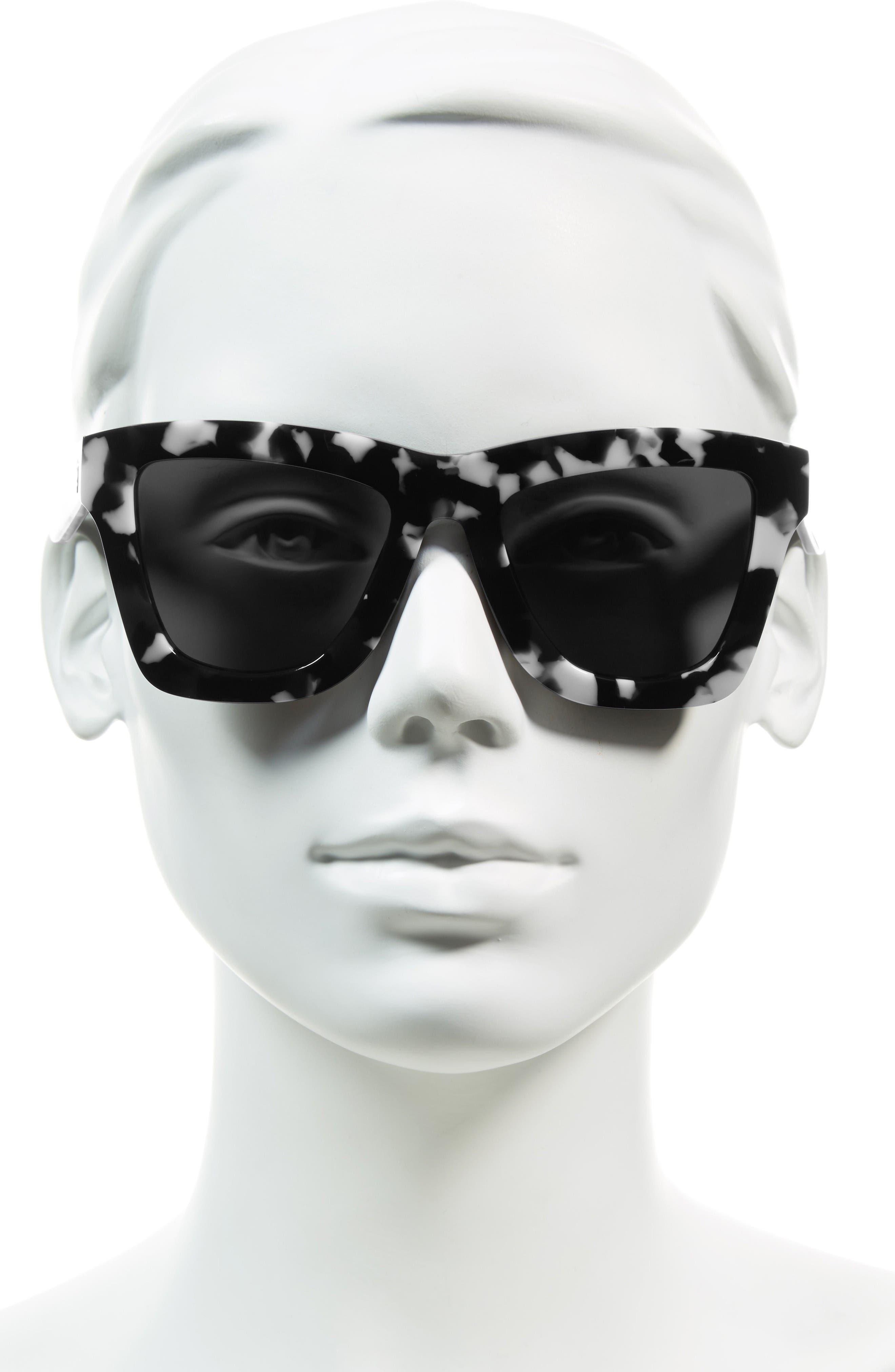DB II 50mm Retro Sunglasses,                             Alternate thumbnail 2, color,                             Black Marble/ Black