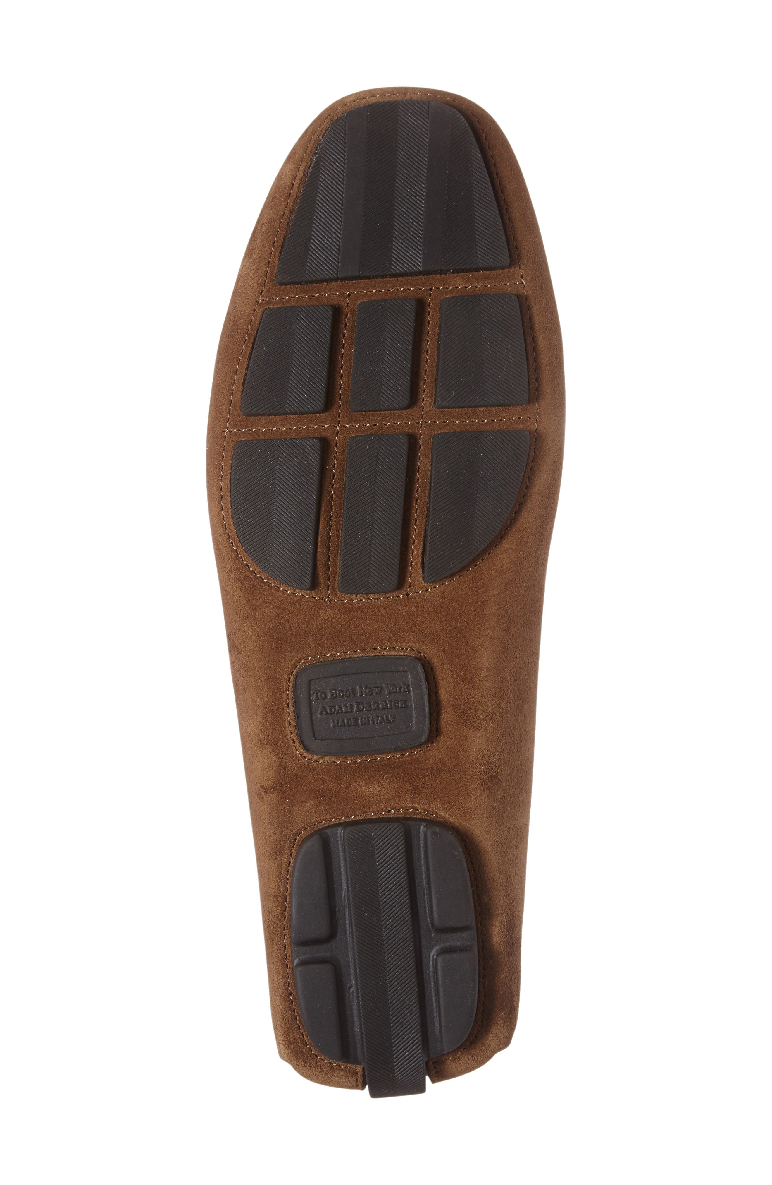 Mitchum Driving Shoe,                             Alternate thumbnail 4, color,                             Brown/ Brown Suede