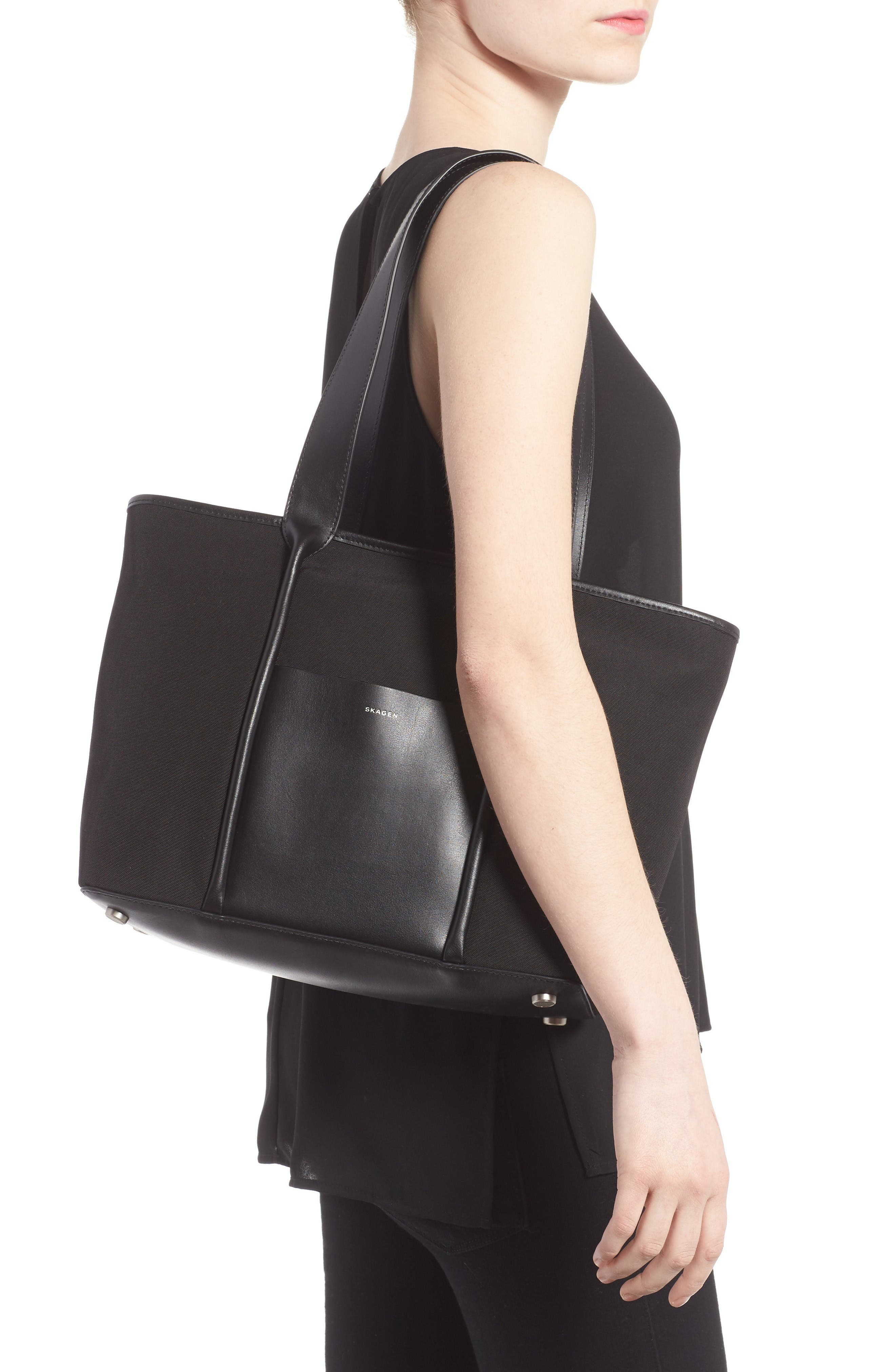 Alternate Image 2  - Skagen Lisabet Coated Twill Tote