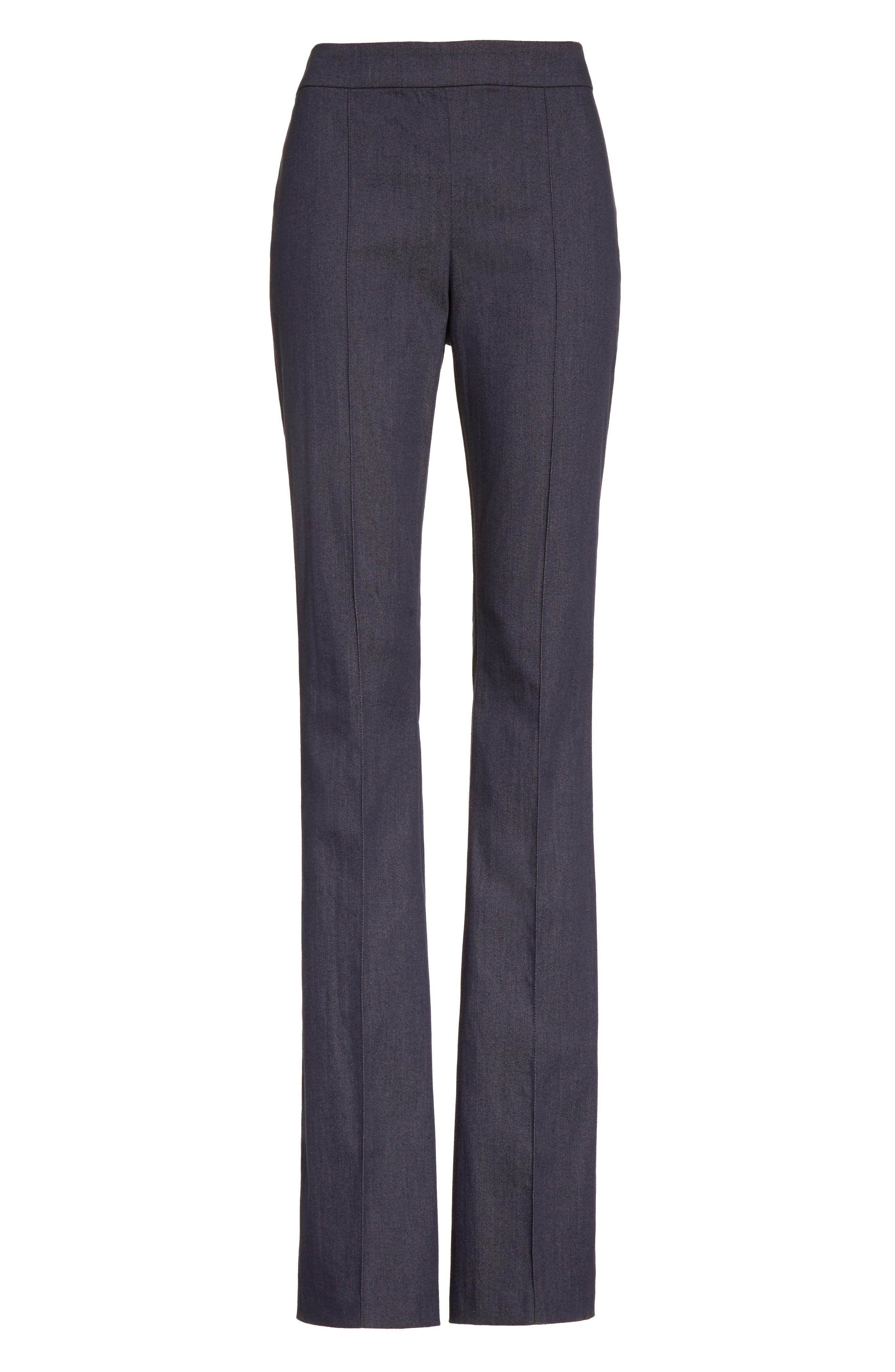 Alternate Image 6  - St. John Collection Stretch Denim Flare Pants