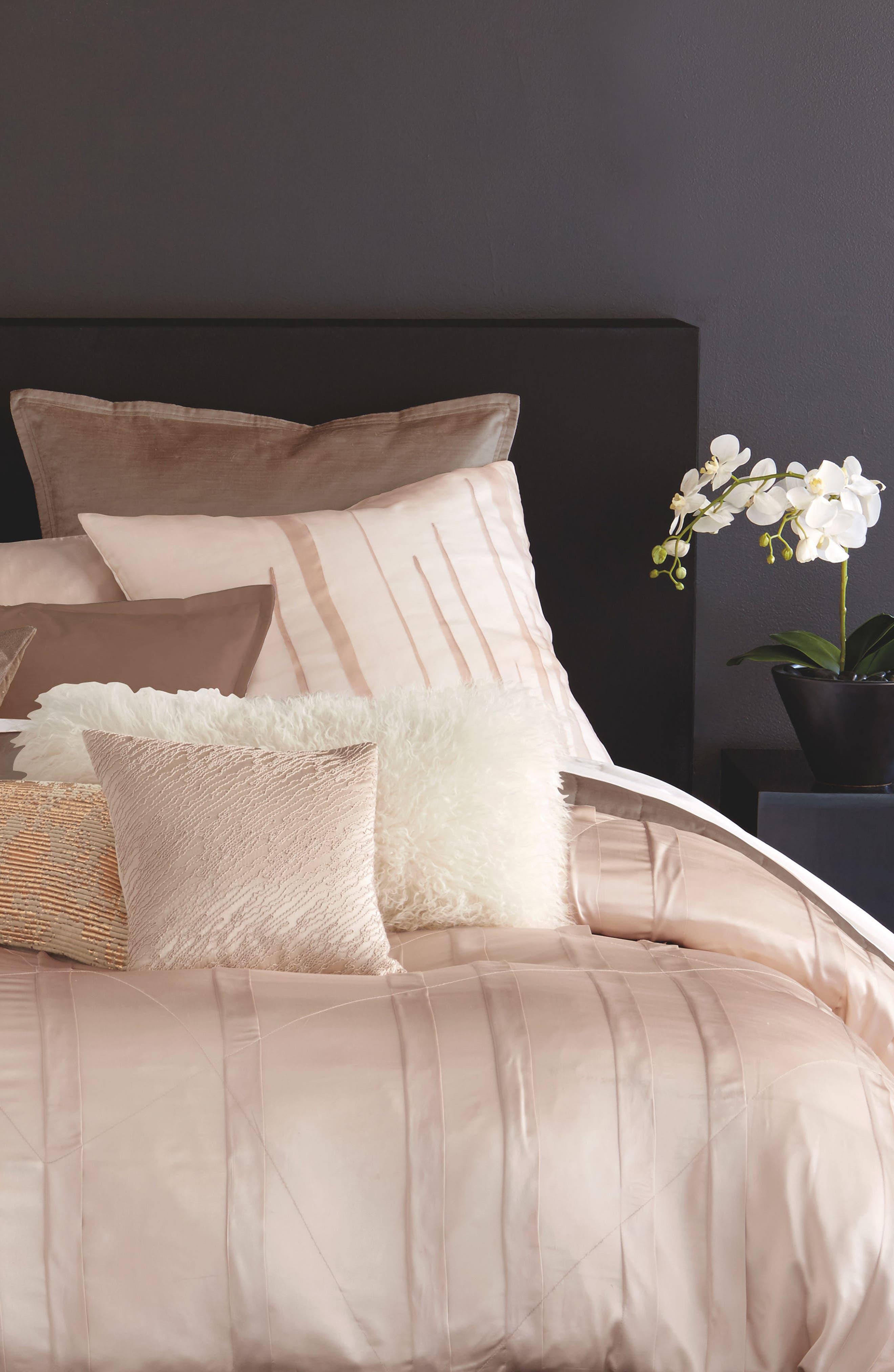 Donna Karan Homoe Collection Awakening Velvet Accent Pillow,                             Alternate thumbnail 3, color,                             Blush