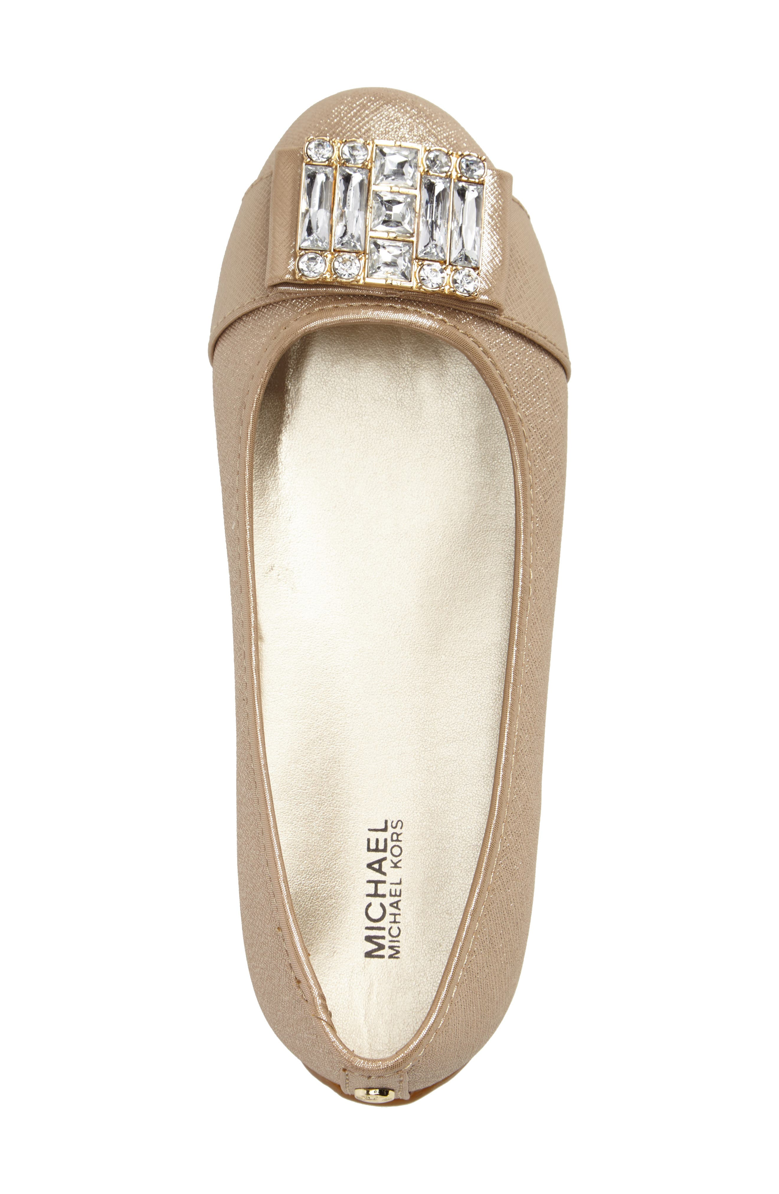 Rover Kendra Ballet Flat,                             Alternate thumbnail 3, color,                             Gold